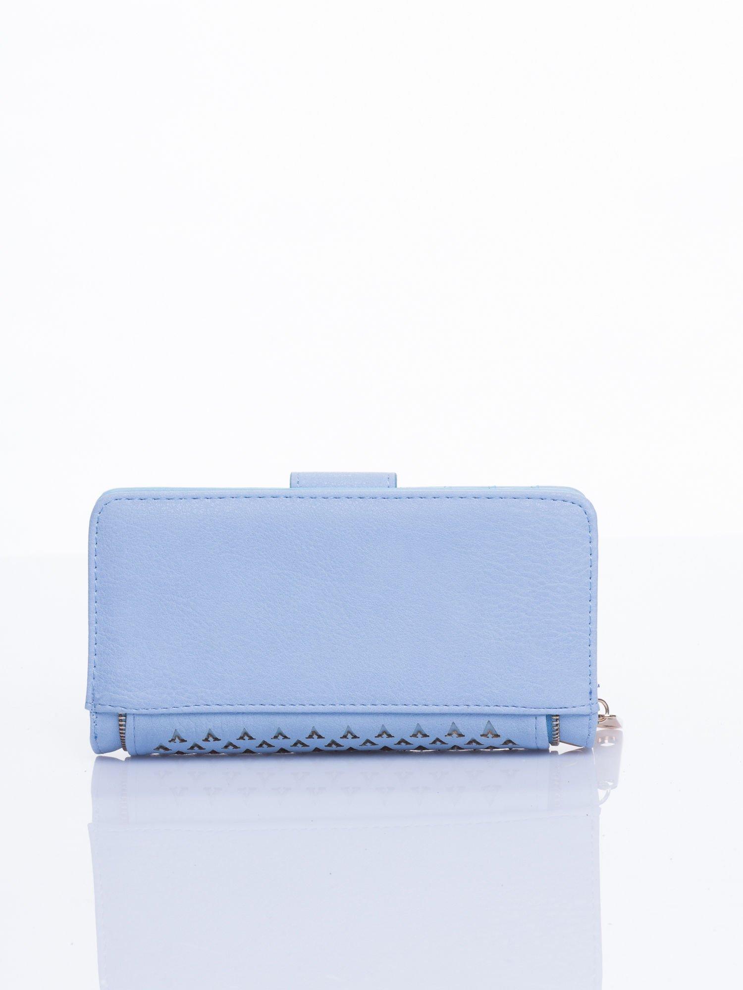 Błękitny portfel ze złotym detalem V                                  zdj.                                  3
