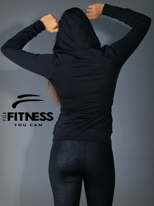 Bluza For Fitness z kapturem                                  zdj.                                  2