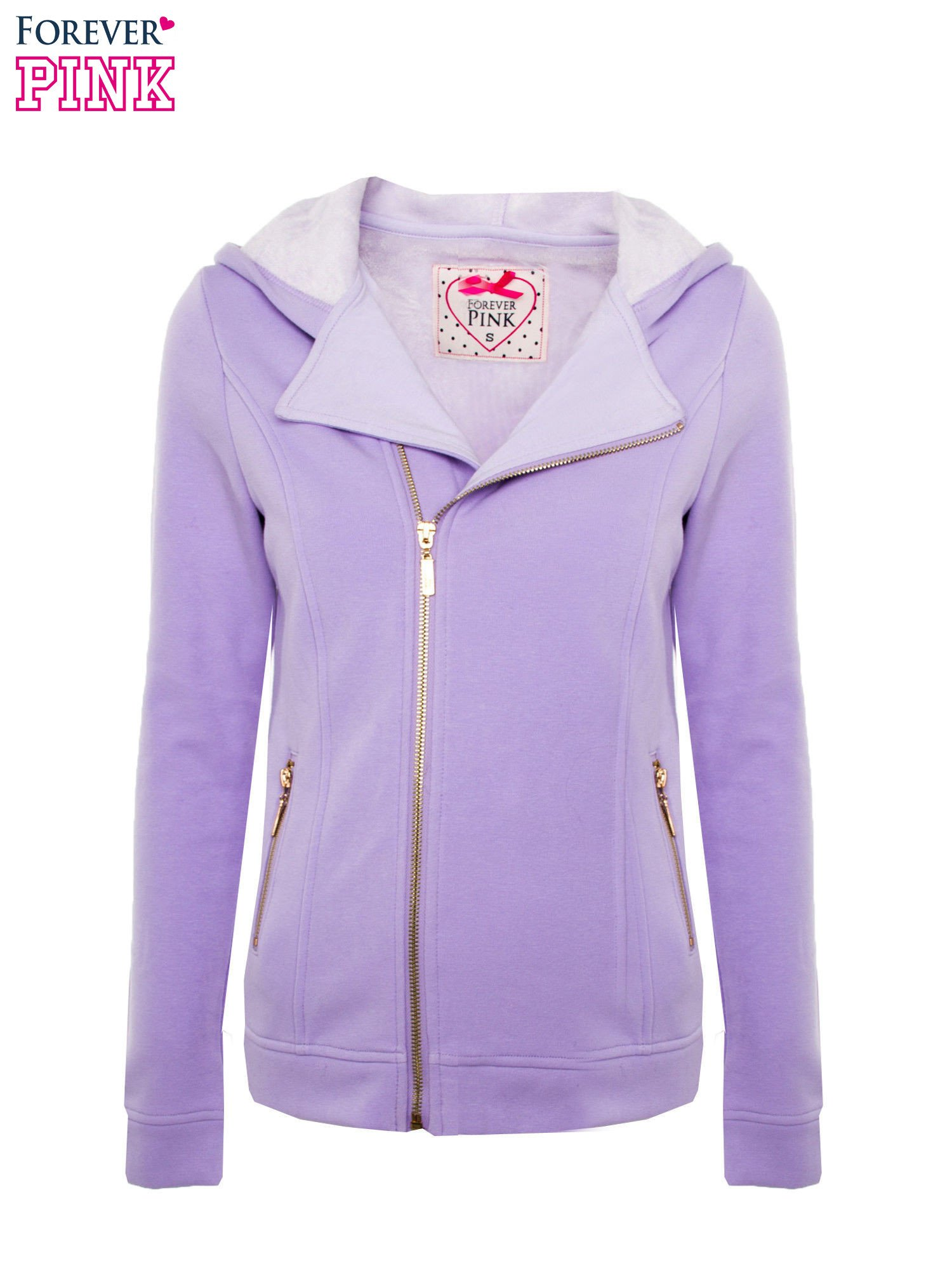 Bluza typu ramoneska w kolorze lila                                  zdj.                                  1