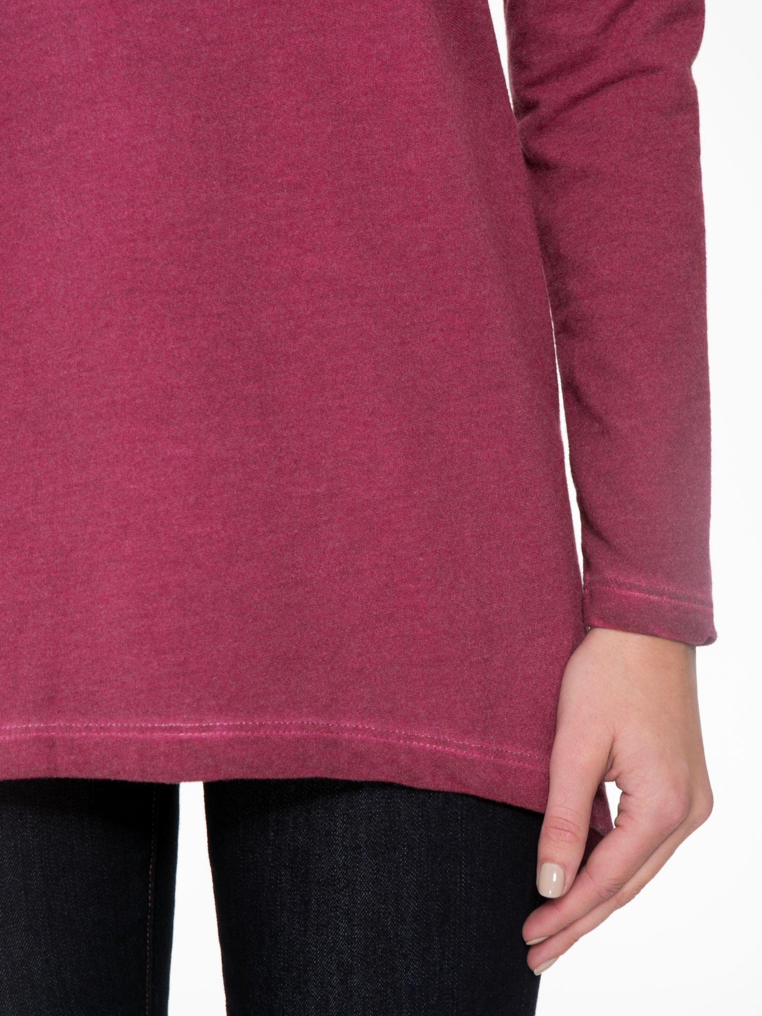 Bordowa bluza z koronkową wstawką na plecach                                  zdj.                                  6