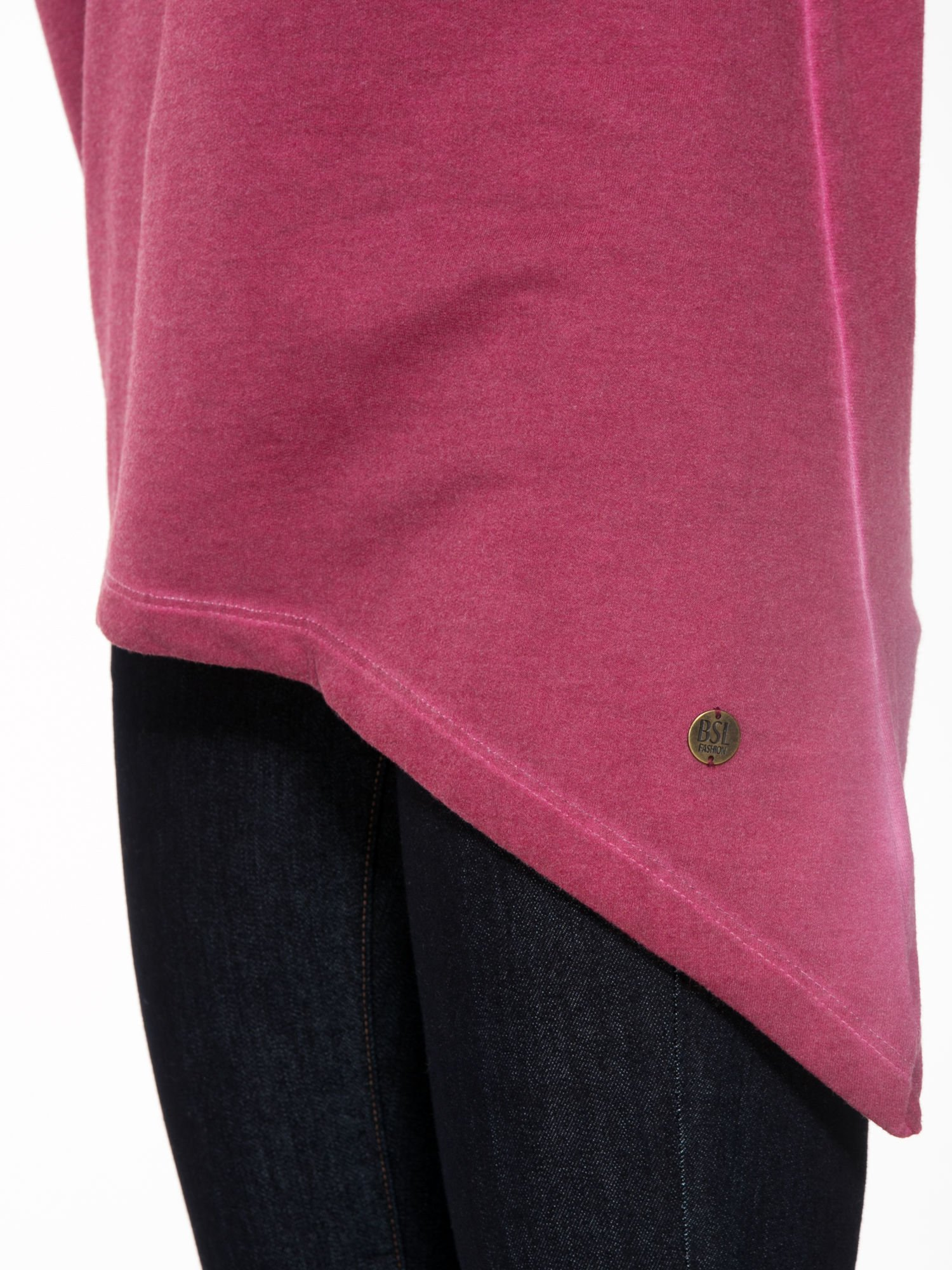 Bordowa bluza z koronkową wstawką na plecach                                  zdj.                                  7