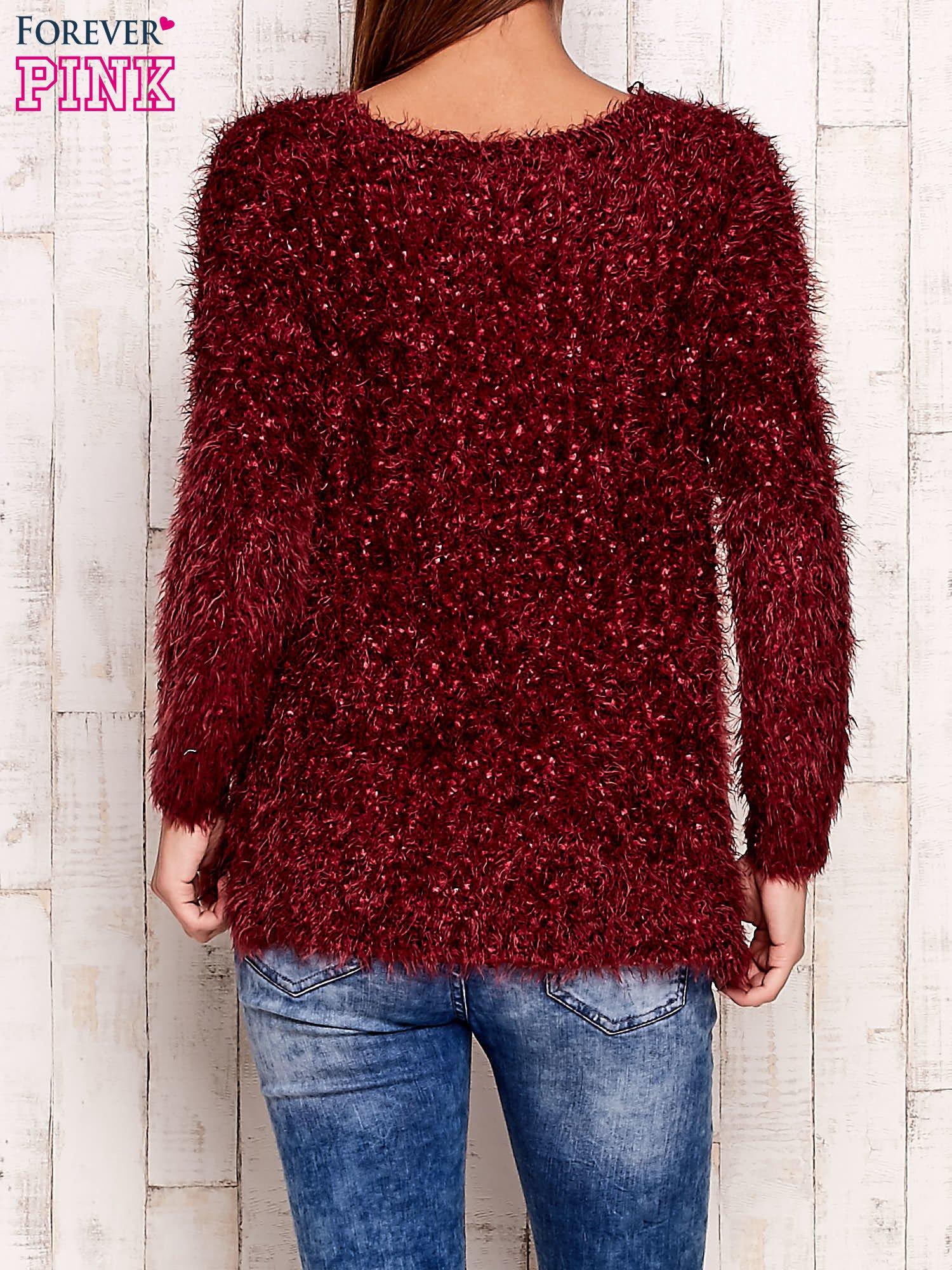 Bordowy sweter long hair                                  zdj.                                  2