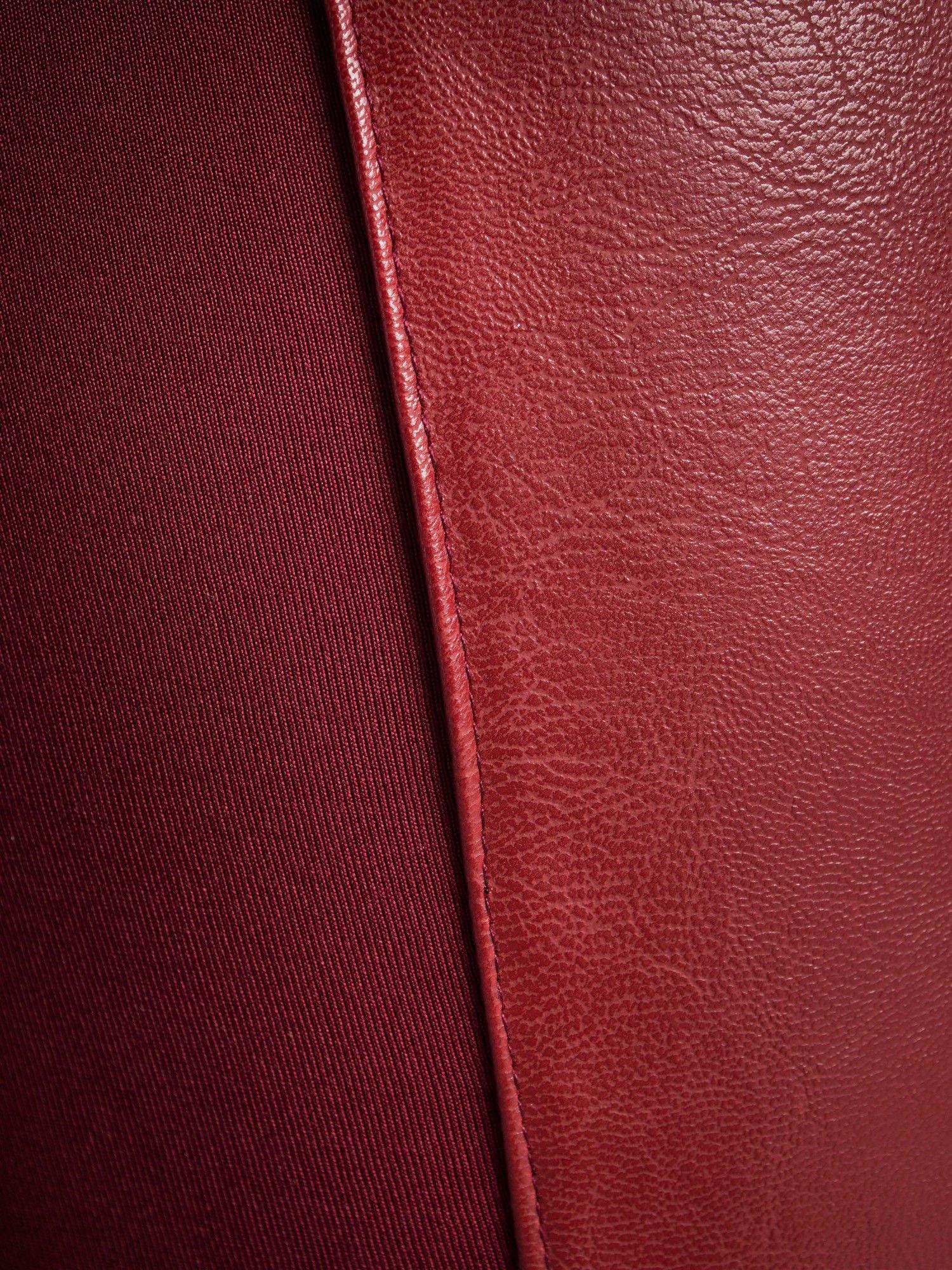 Borodowe dwustronne legginsy skórzane                                  zdj.                                  3