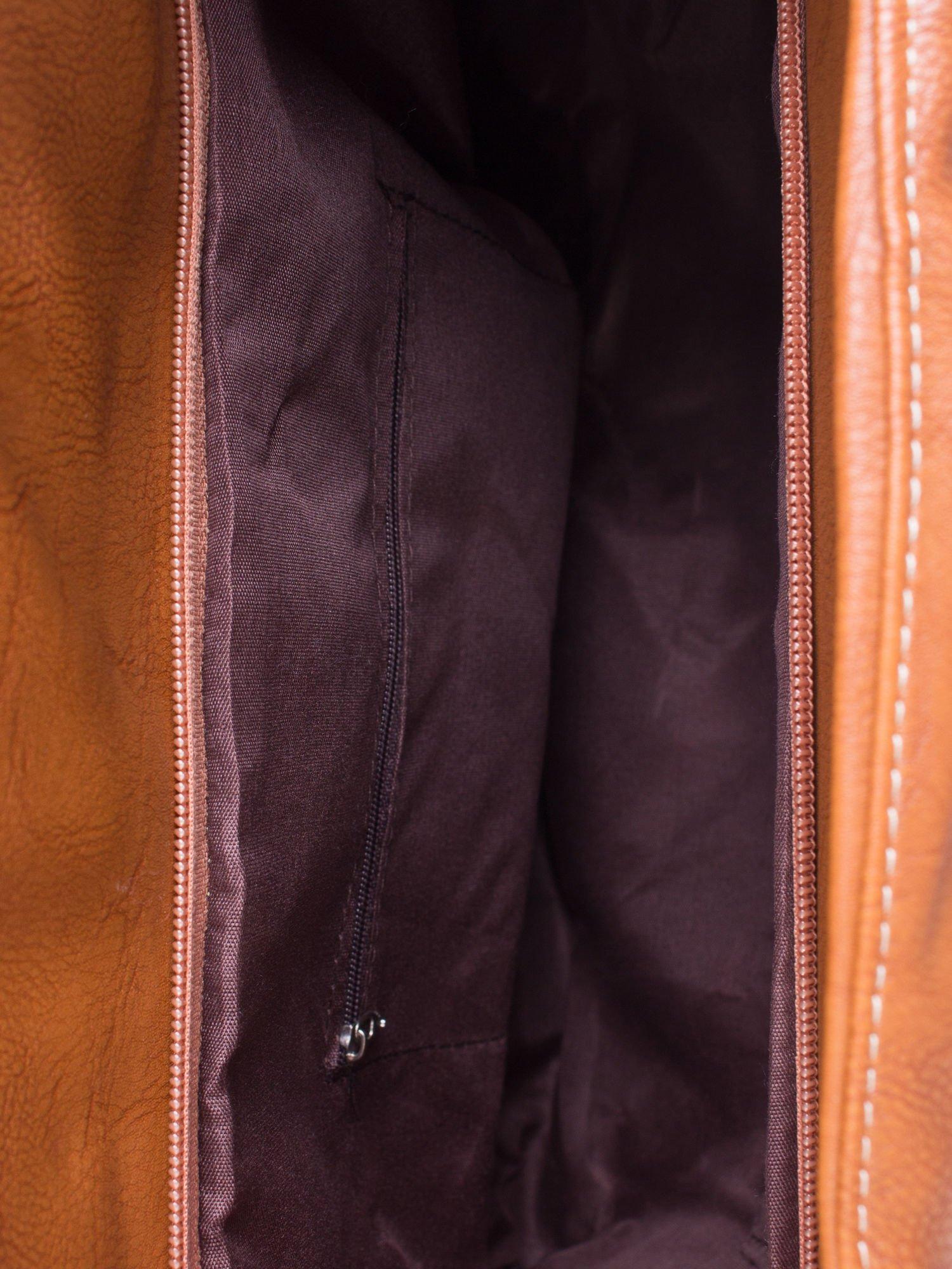 Brązowa torba miejska z klapką                                  zdj.                                  4