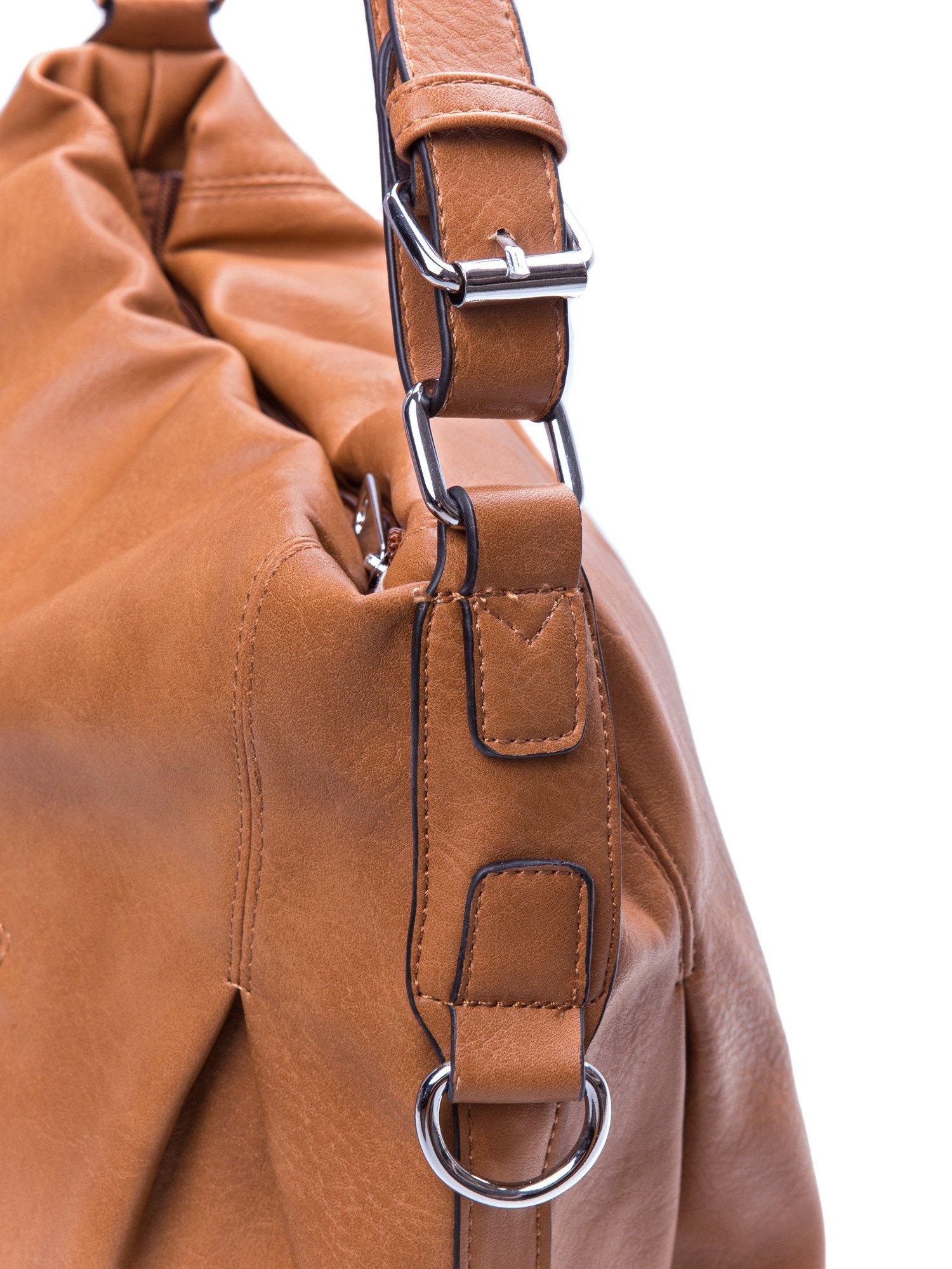Brązowa torebka hobo na ramię                                  zdj.                                  3