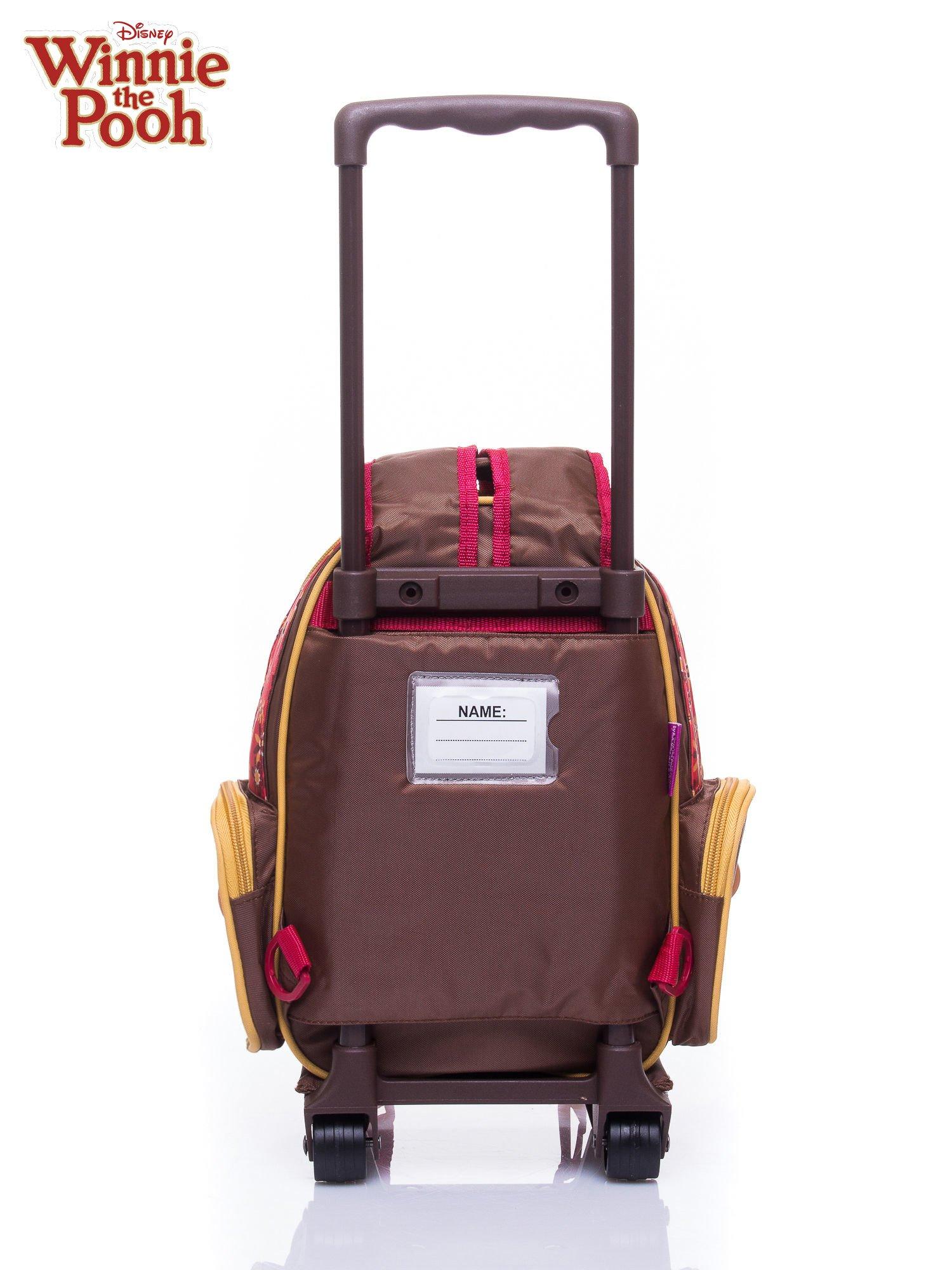 Brązowy plecak szkolny na kółkach walizka DISNEY Kubuś Puchatek                                  zdj.                                  5