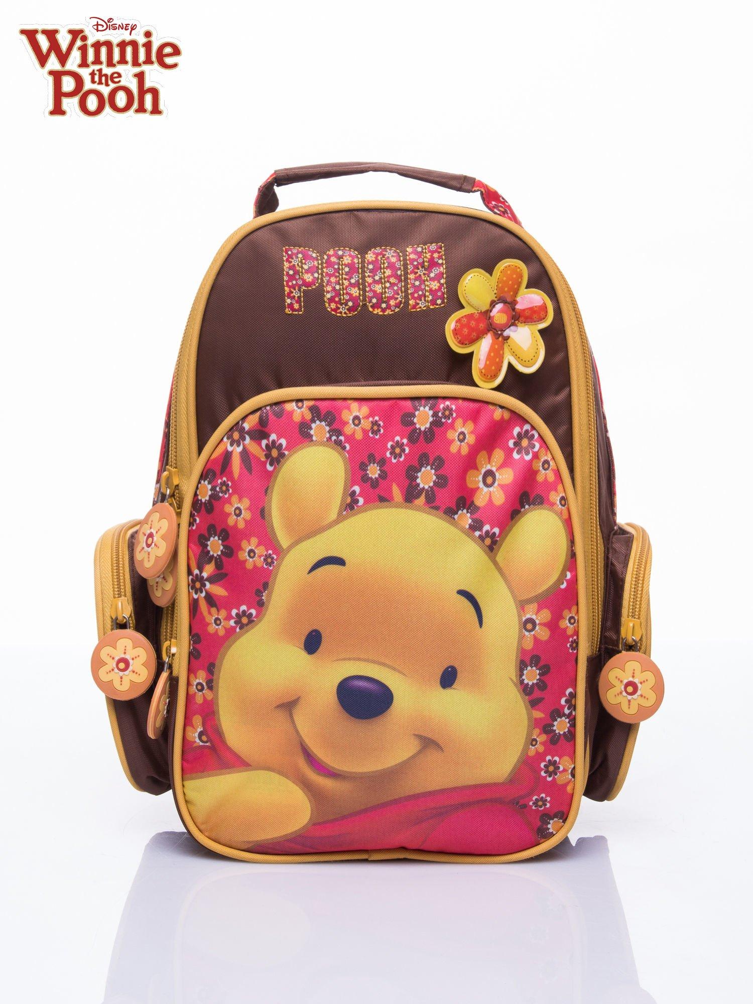 Brązowy plecak szkolny na kółkach walizka DISNEY Kubuś Puchatek                                  zdj.                                  7