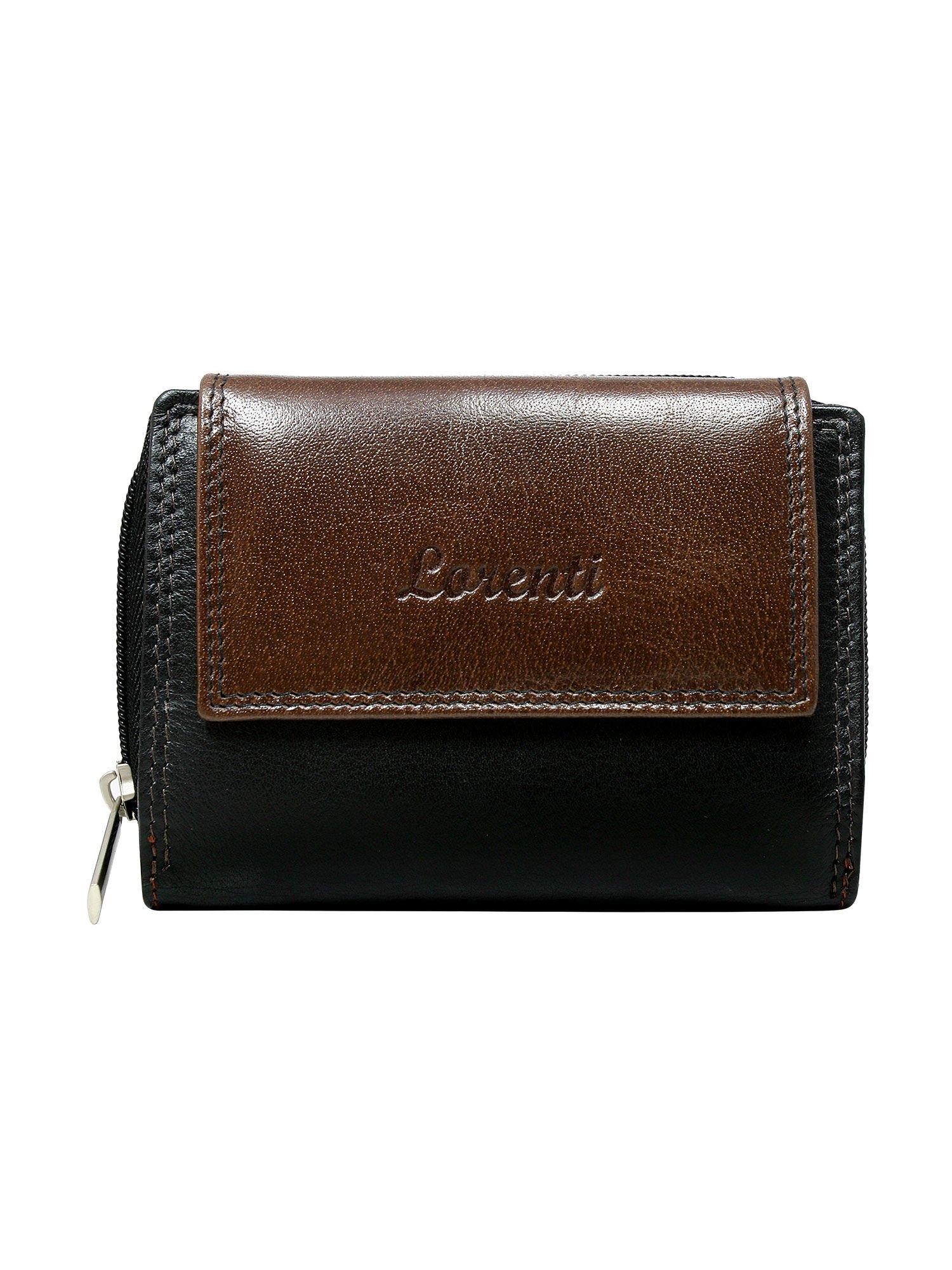 c9eec2c7967b1 Brązowy skórzany portfel damski na napę i suwak - Akcesoria portfele ...