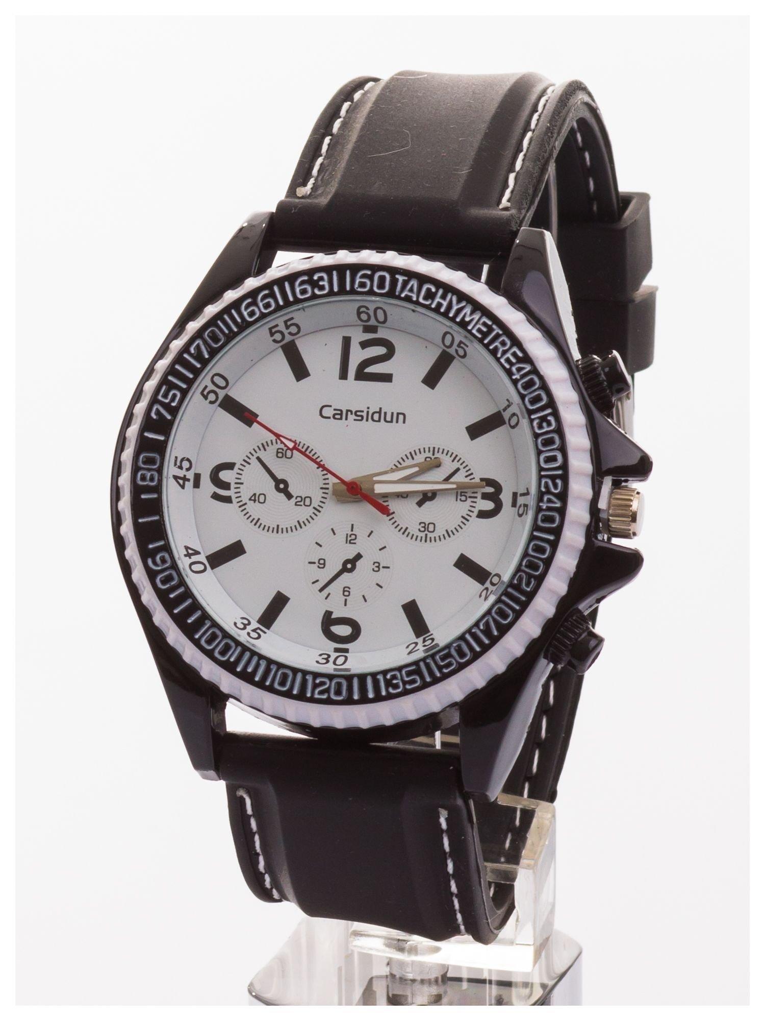 CARSIDUN Duży męski zegarek z ozdobnym chronometrem i tachometrem                                  zdj.                                  1