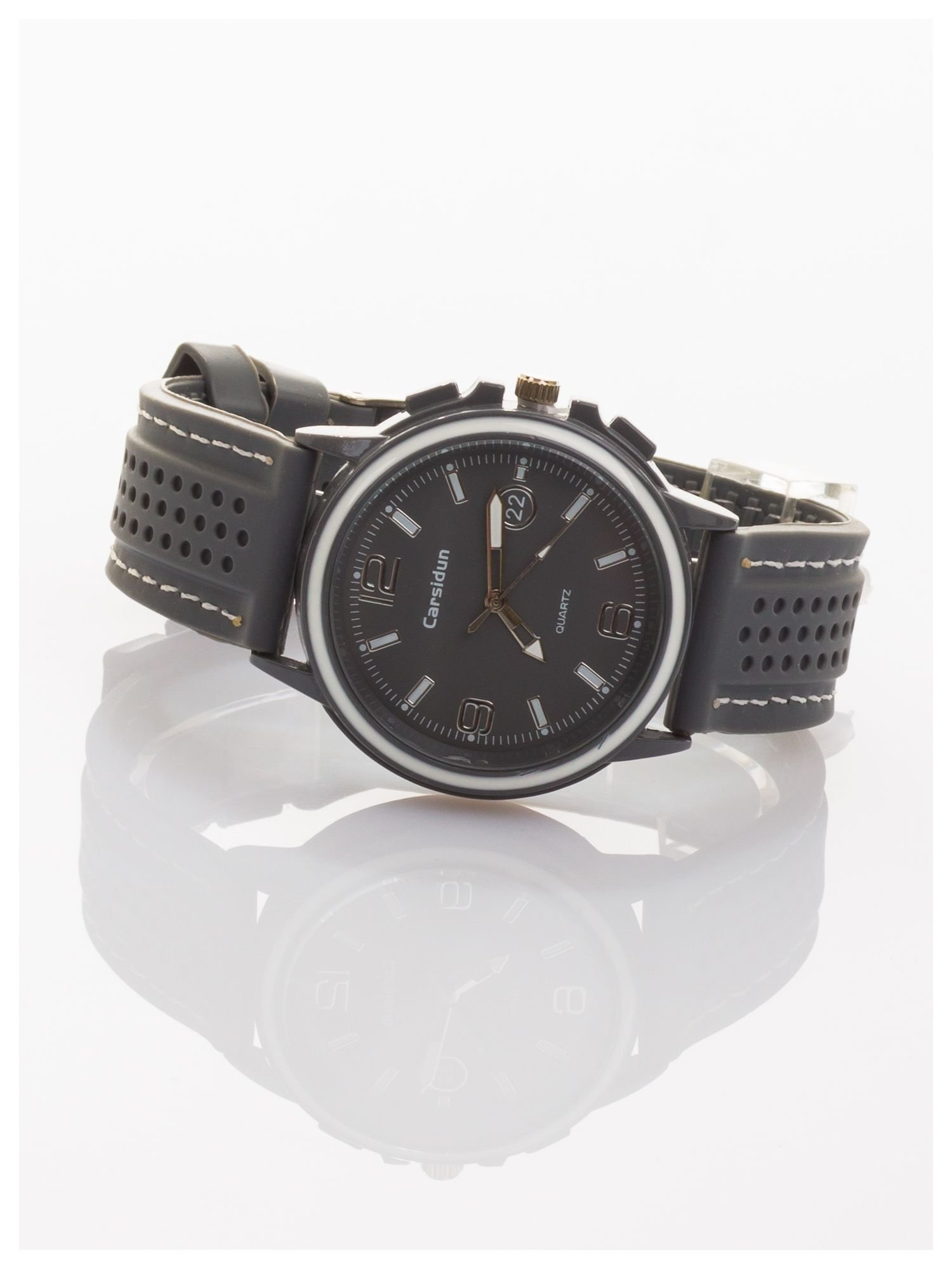 CARSIDUN Modny i wygodny męski zegarek z silikonowym paskiem                                  zdj.                                  2