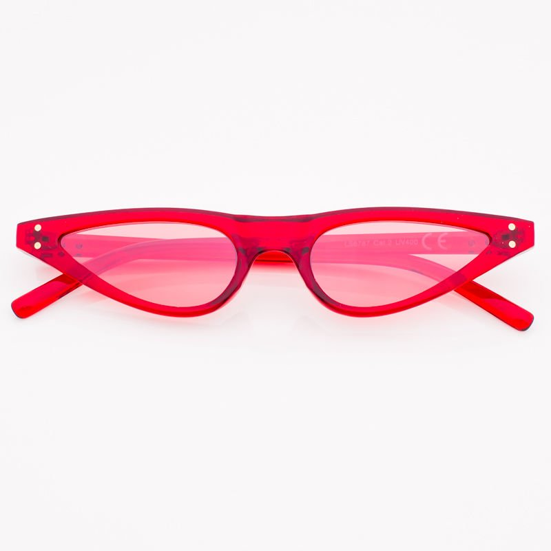 dc0897dea5eddd CAT EYE Czerwone damskie okulary przeciwsłoneczne KOCIE OCZY ...