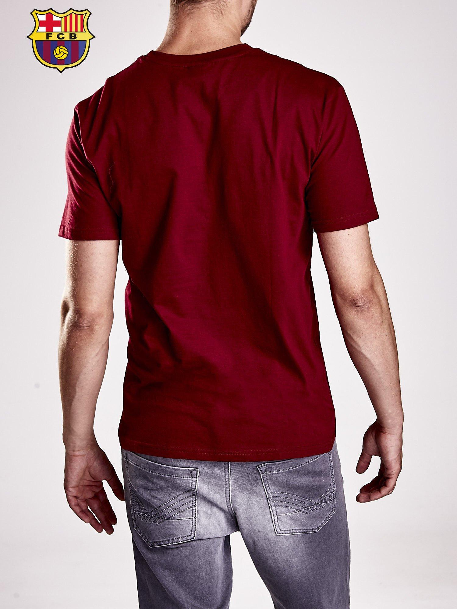 Ciemnoczerwony t-shirt męski FC BARCELONA                                   zdj.                                  3