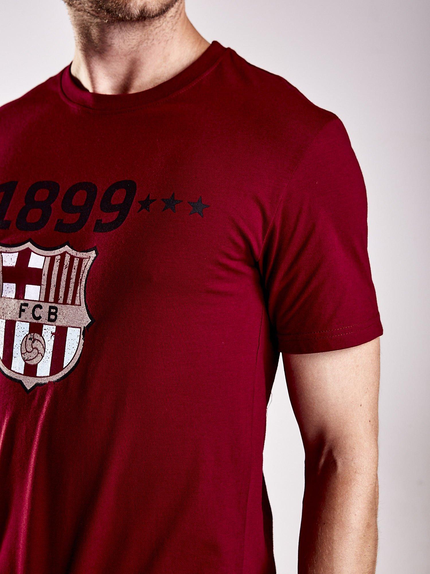 Ciemnoczerwony t-shirt męski FC BARCELONA                                   zdj.                                  7