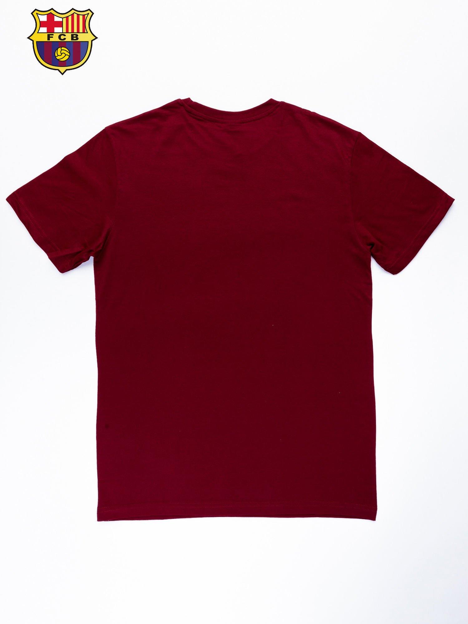 Ciemnoczerwony t-shirt męski FC BARCELONA                                   zdj.                                  11