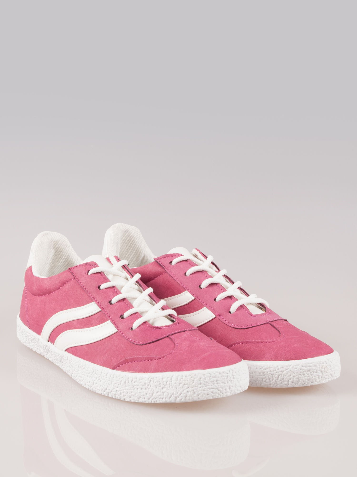 Ciemnoróżowe buty sportowe w stylu casual Kash                                  zdj.                                  2