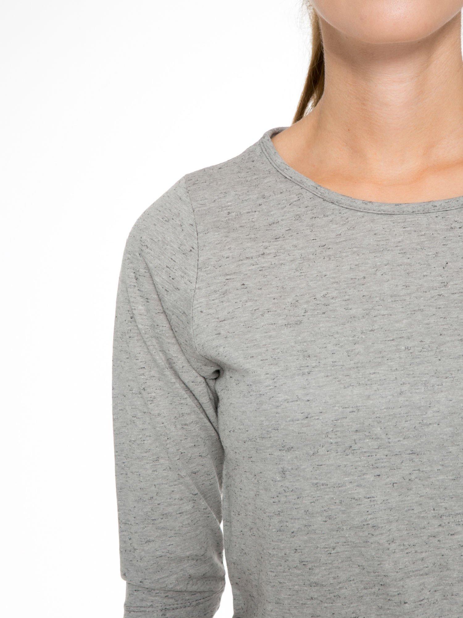 Ciemnoszara melanżowa bluzka z rękawami 3/4                                  zdj.                                  6