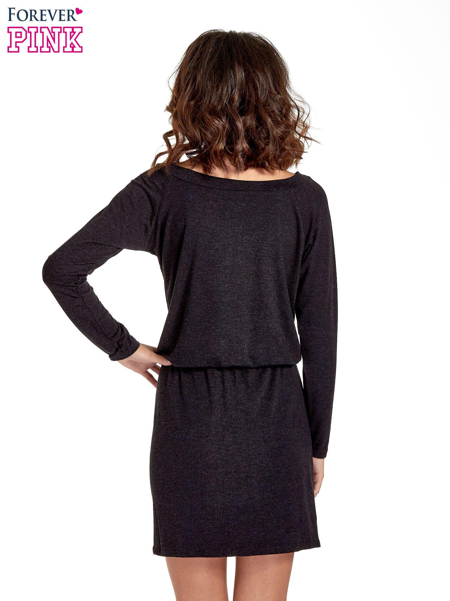 Ciemnoszara sukienka z rozcięciem                                  zdj.                                  8