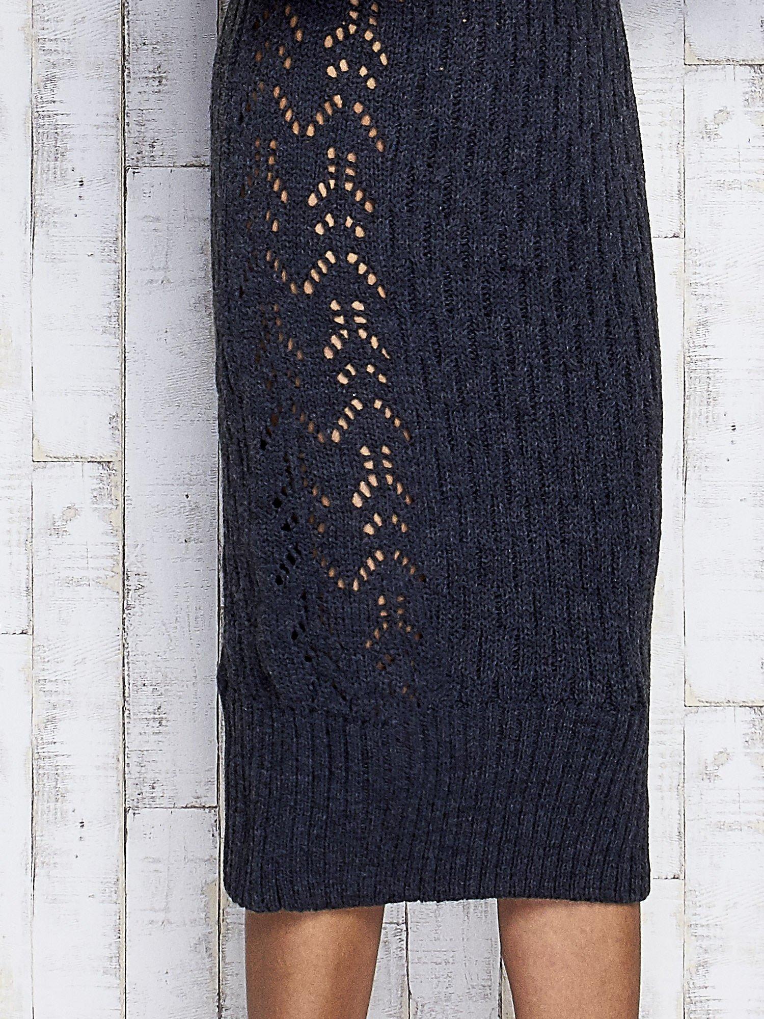 Ciemnoszara swetrowa sukienka midi                                  zdj.                                  8