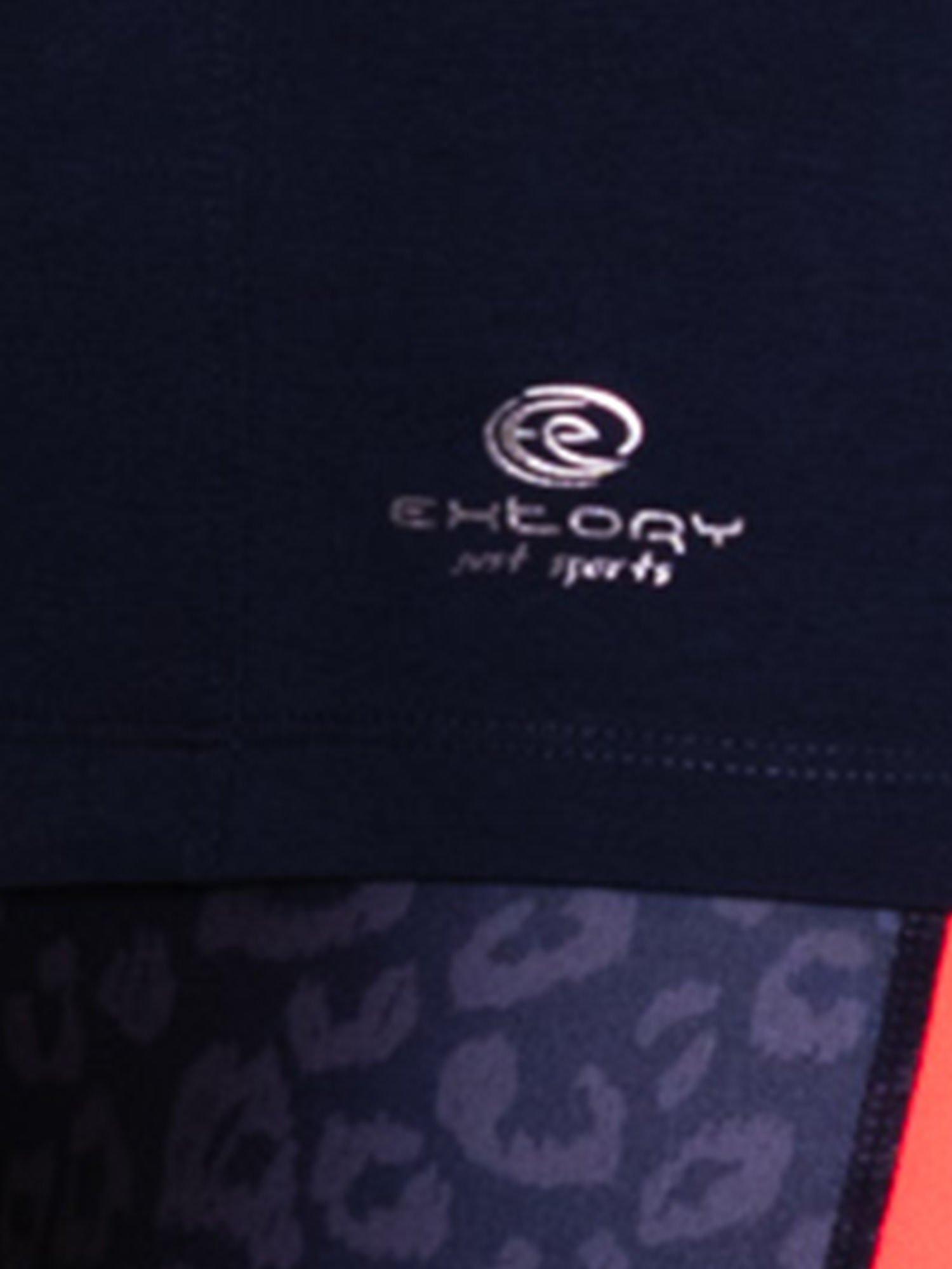 Ciemnoszary damski t-shirt sportowy basic                                  zdj.                                  5