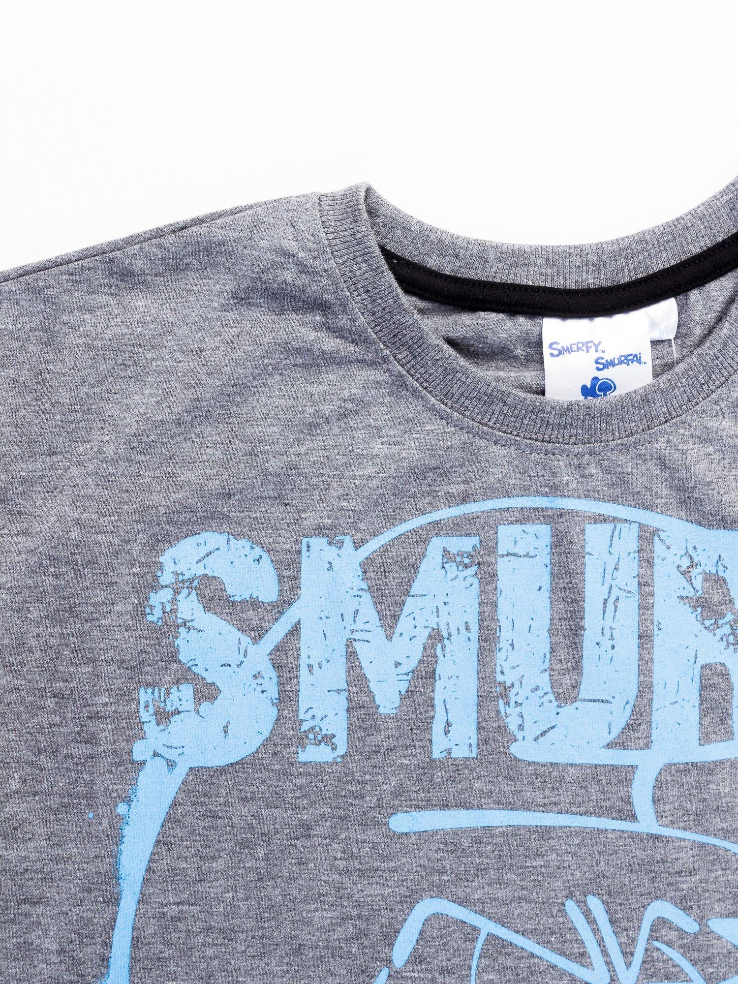 Ciemnoszary t-shirt męski SMERFY                                  zdj.                                  12