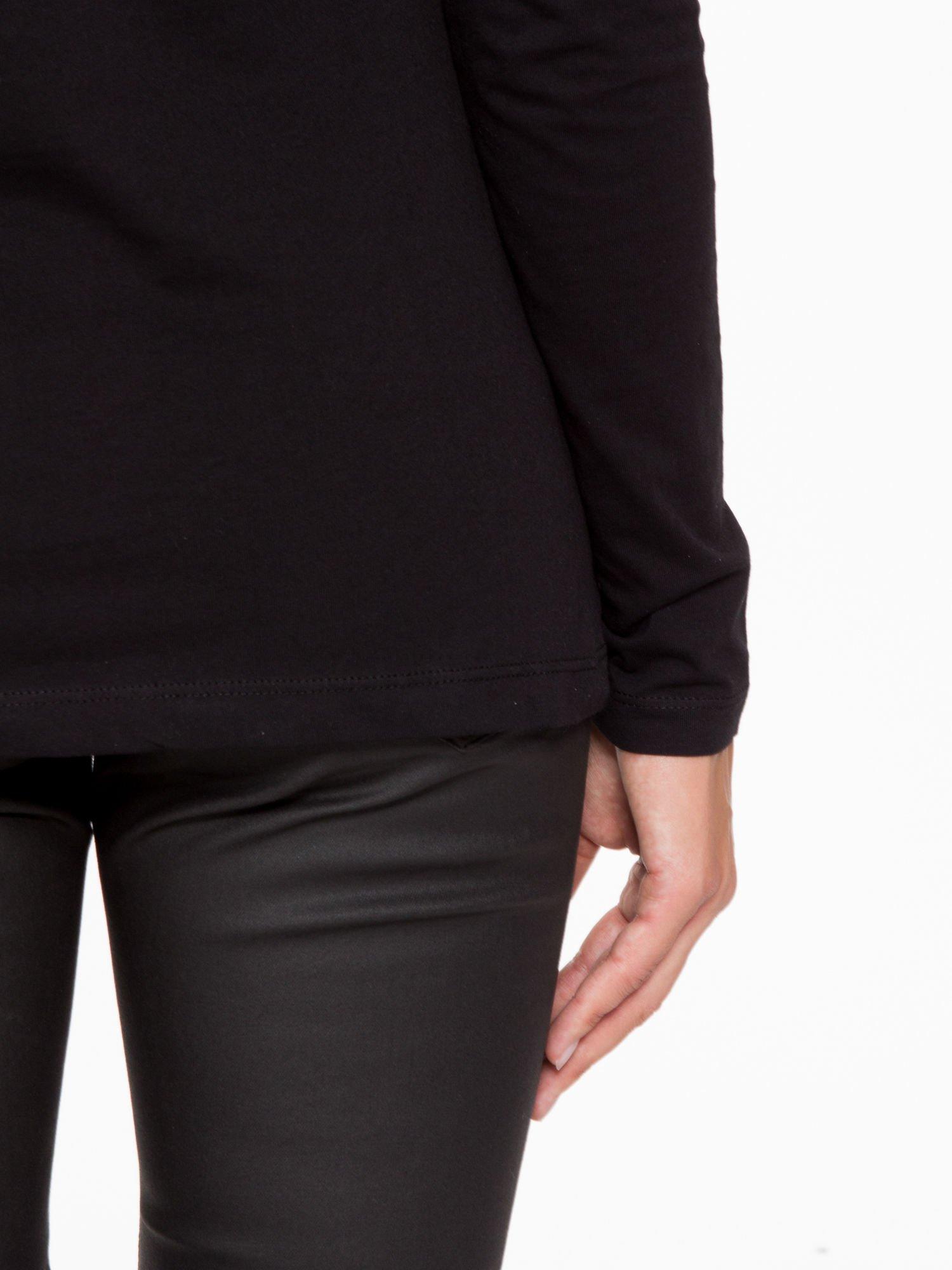 Czarna basicowa bluzka z długim rękawem                                  zdj.                                  9