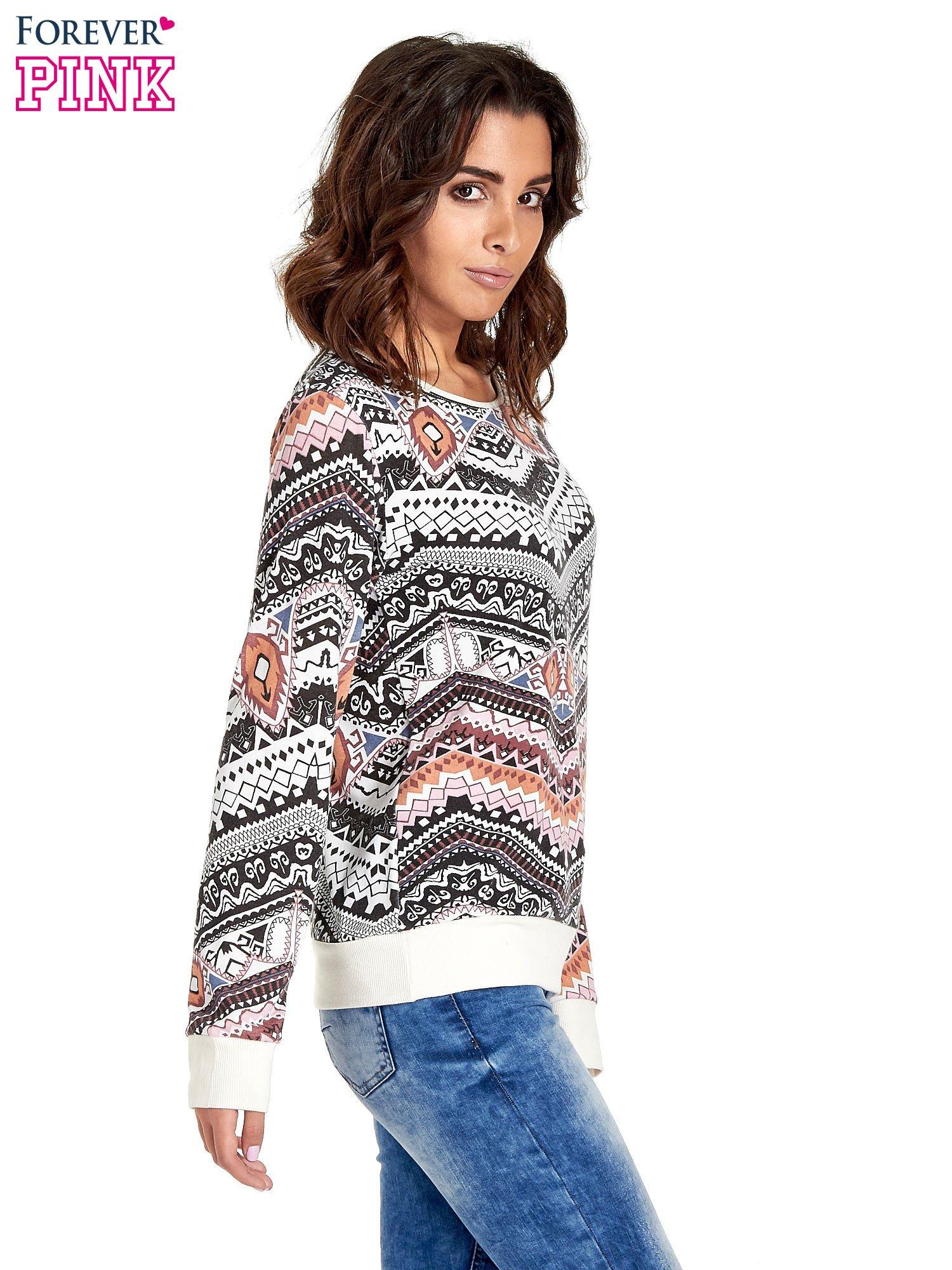 Czarna bluza w azteckie wzory                                  zdj.                                  3