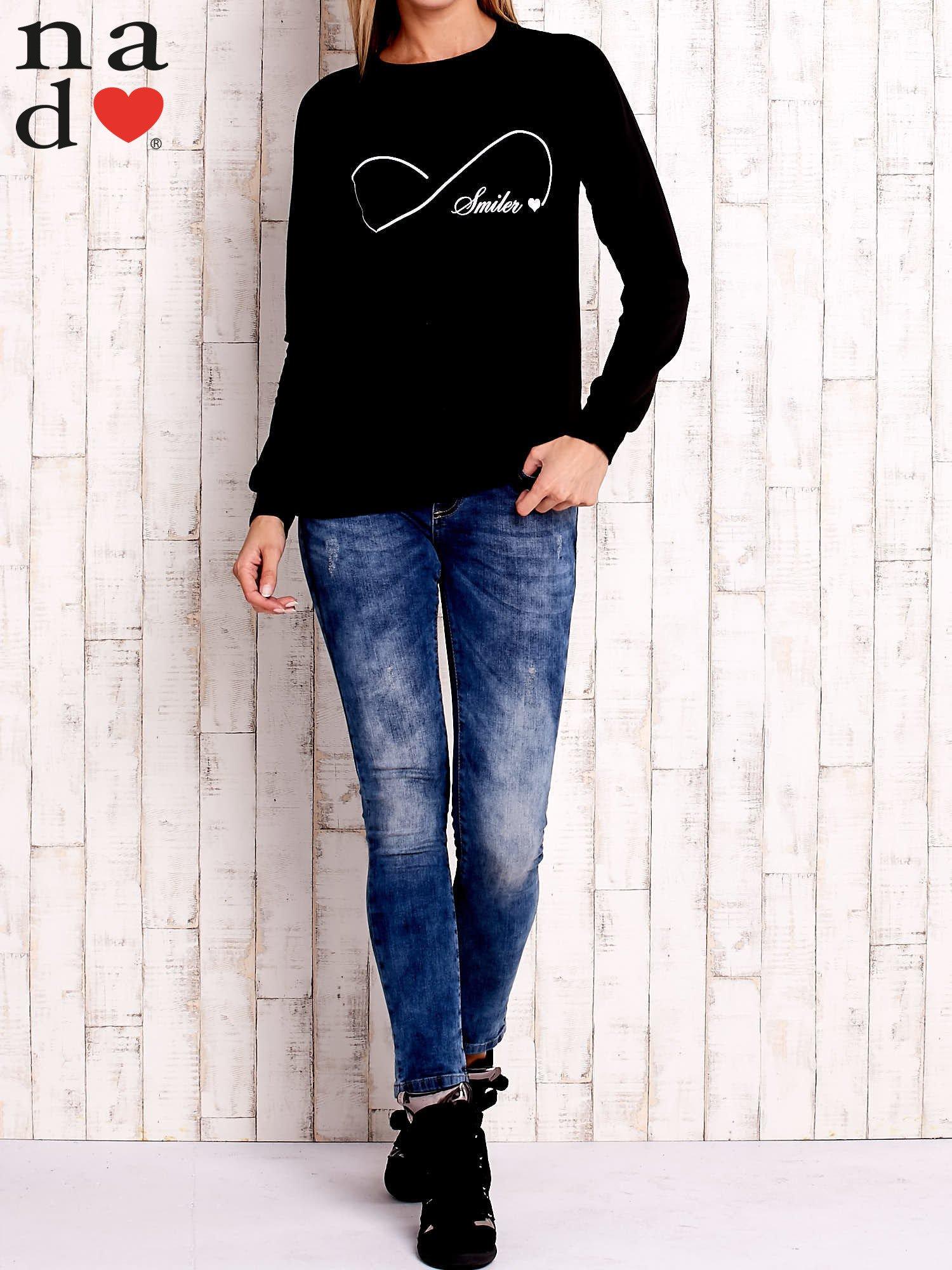 Czarna bluza z napisem SMILER                                  zdj.                                  2