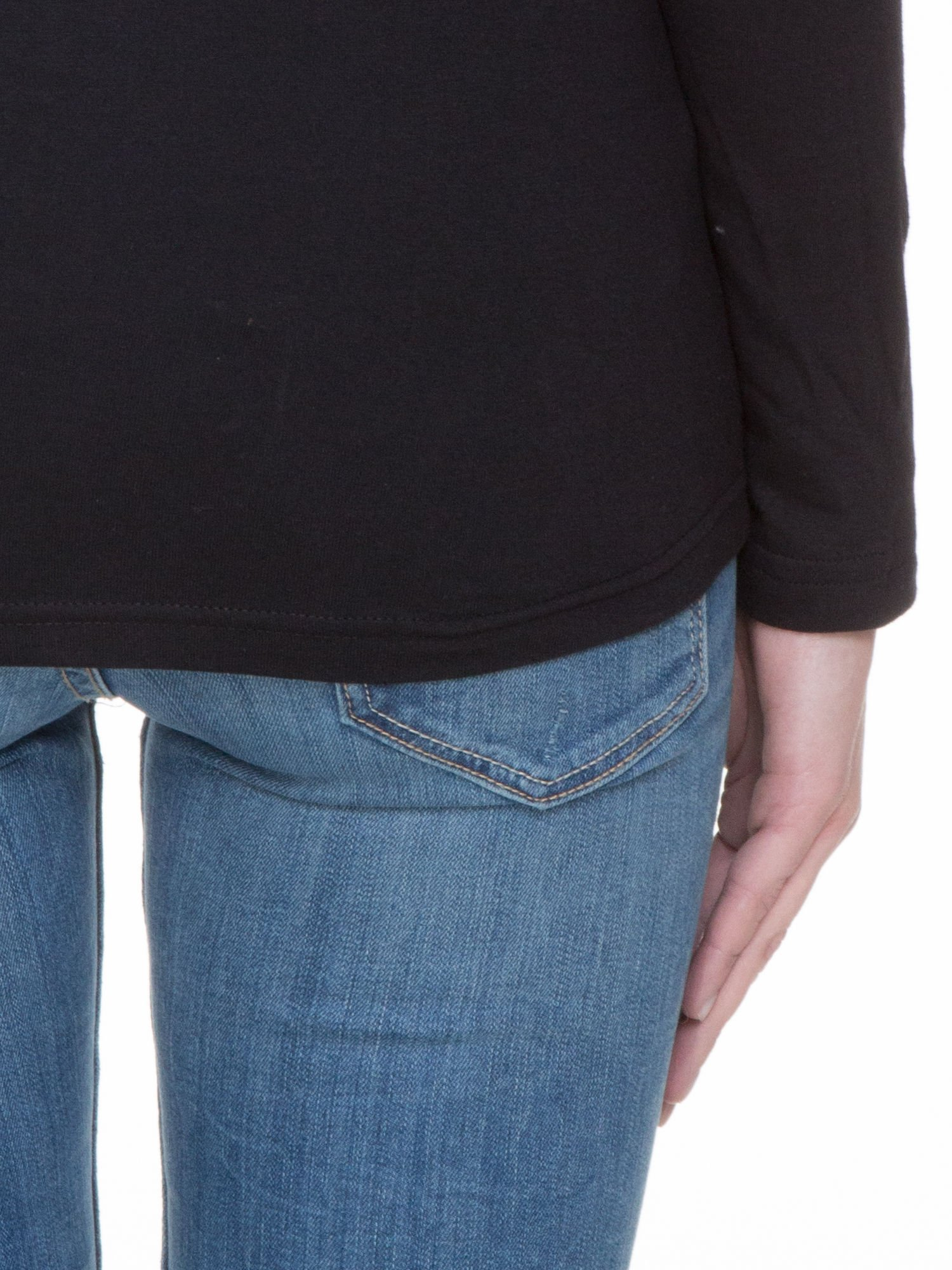 Czarna bluzka z długim rękawem z bawełny                                  zdj.                                  8