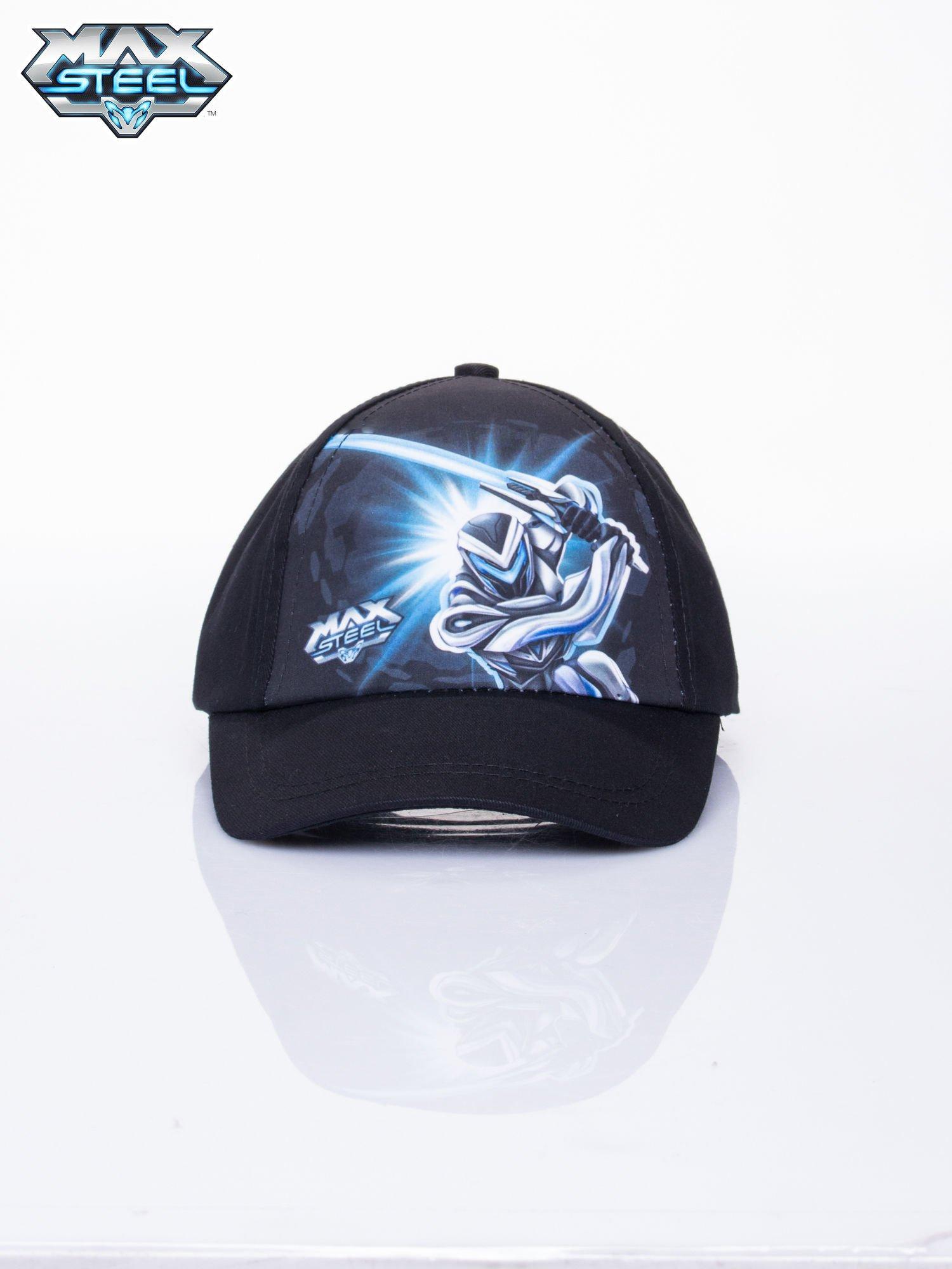 Czarna chłopięca czapka z daszkiem MAX STEEL                                  zdj.                                  1