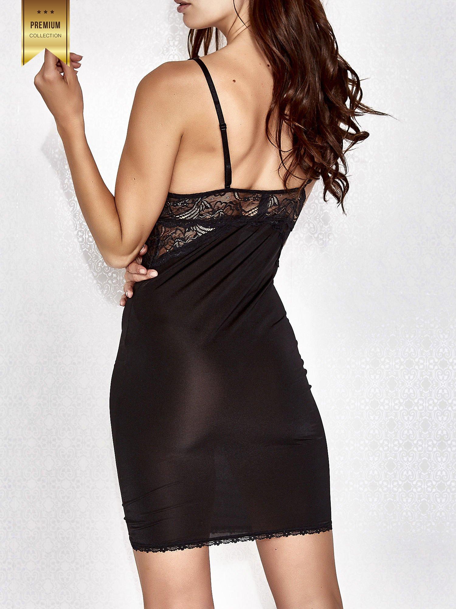 Czarna koronkowa koszula nocna damska                                  zdj.                                  2