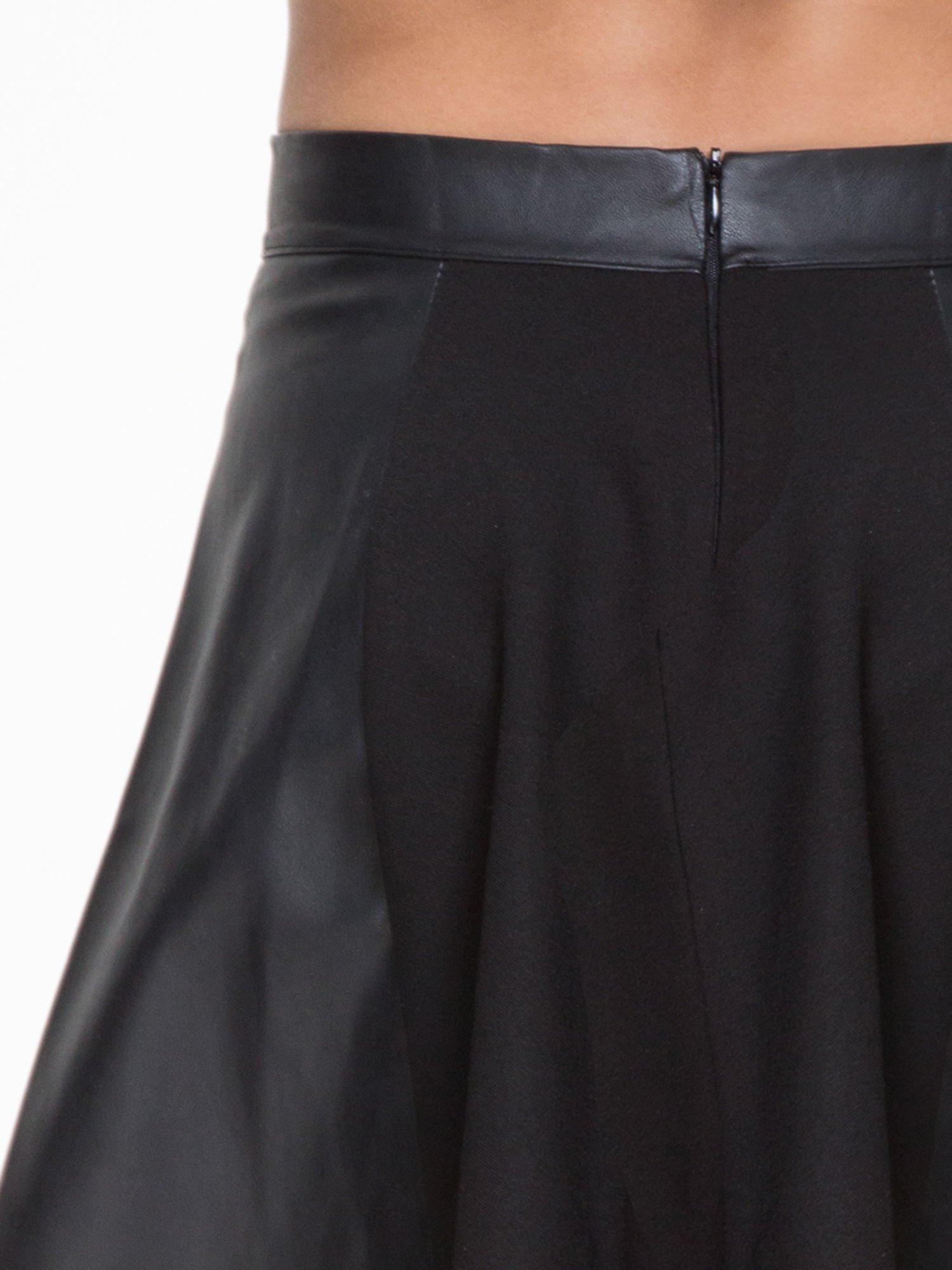 Czarna skórzana mini spódniczka                                  zdj.                                  7