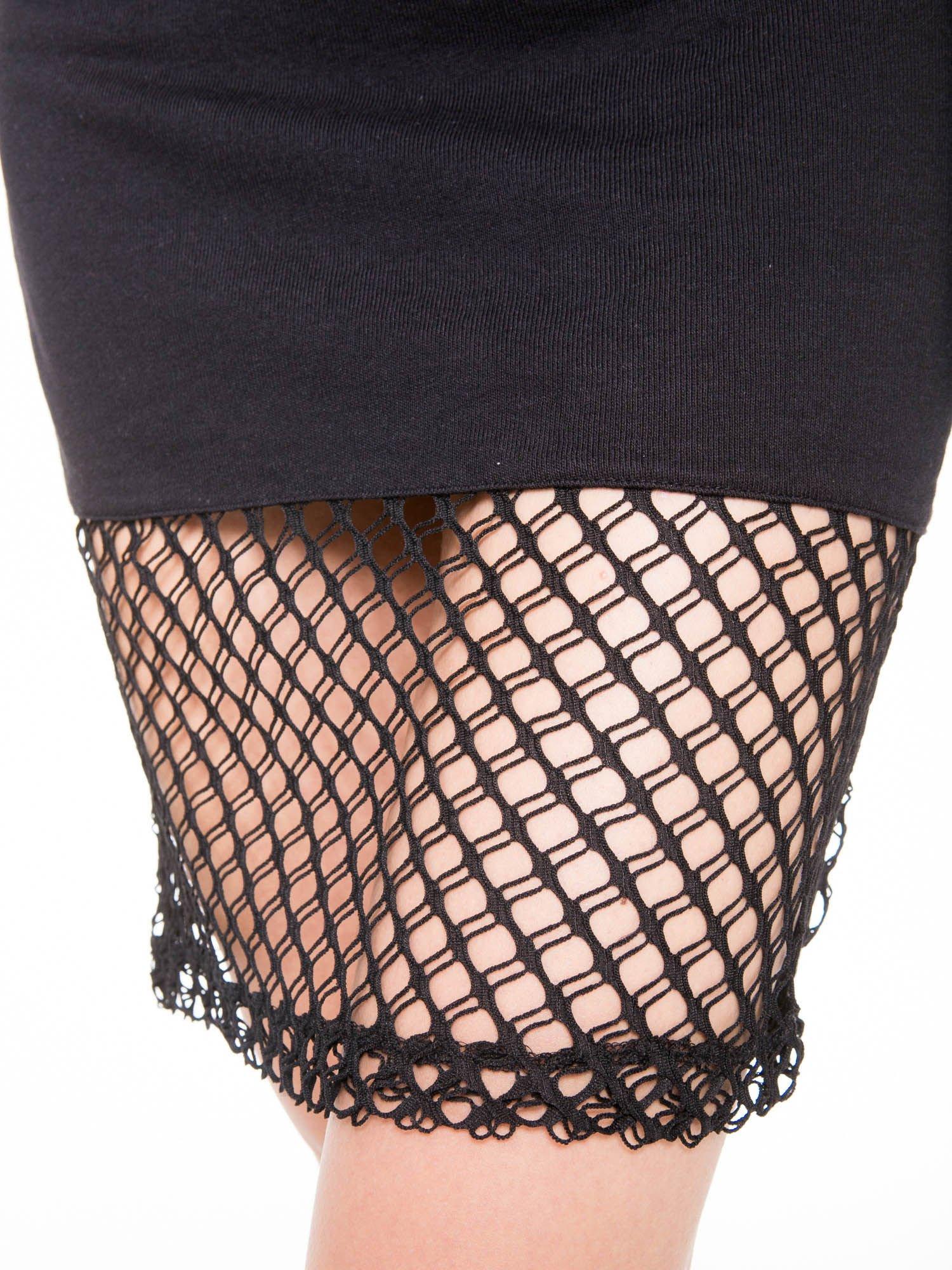 Czarna spódnica do kolan z siatki                                  zdj.                                  5