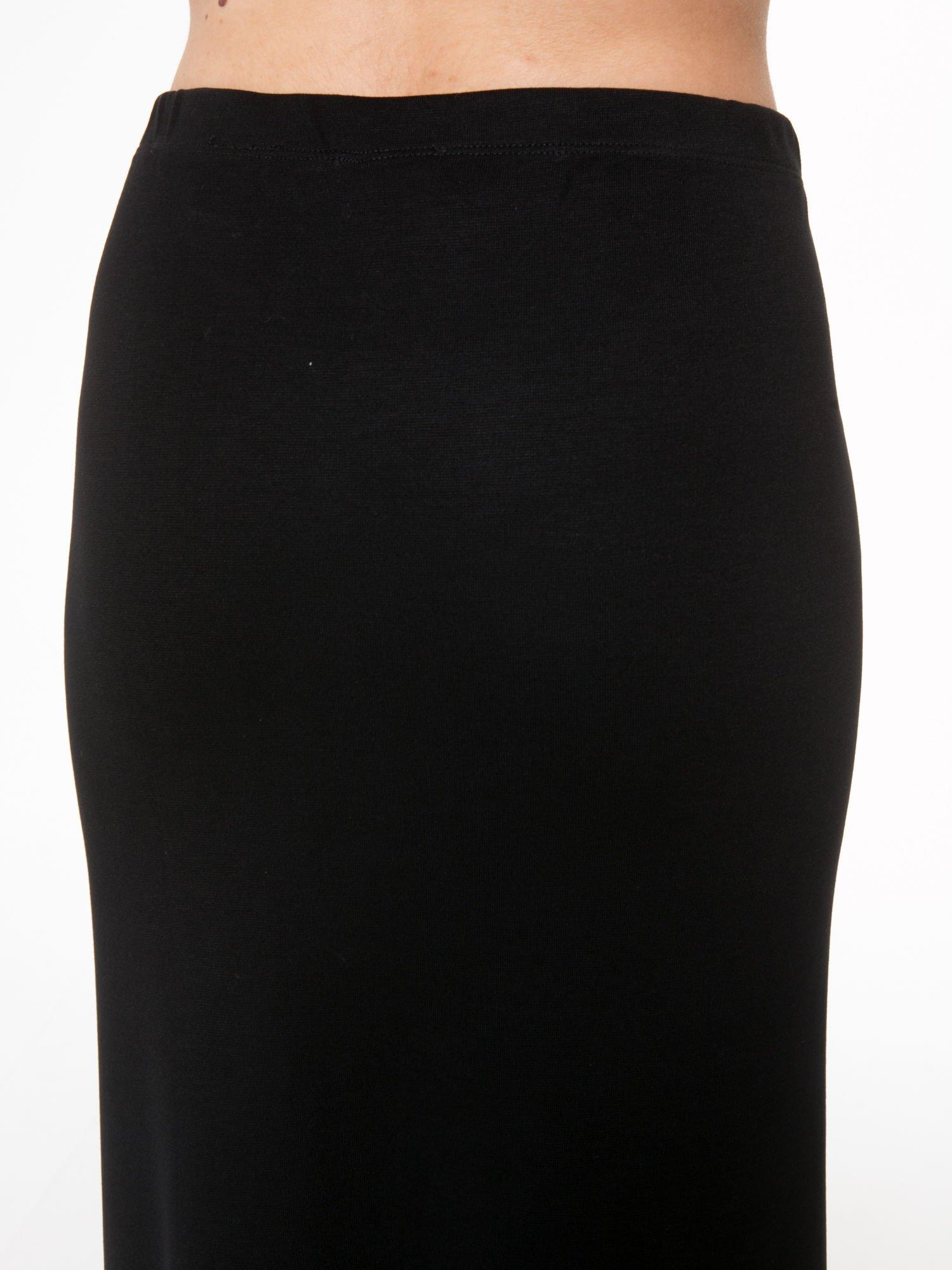 Czarna spódnica maxi z rozporkami                                  zdj.                                  8