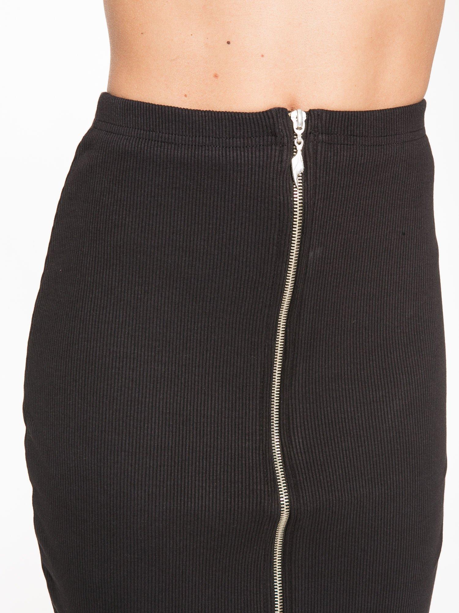 Czarna spódnica midi z suwakiem z przodu                                  zdj.                                  6