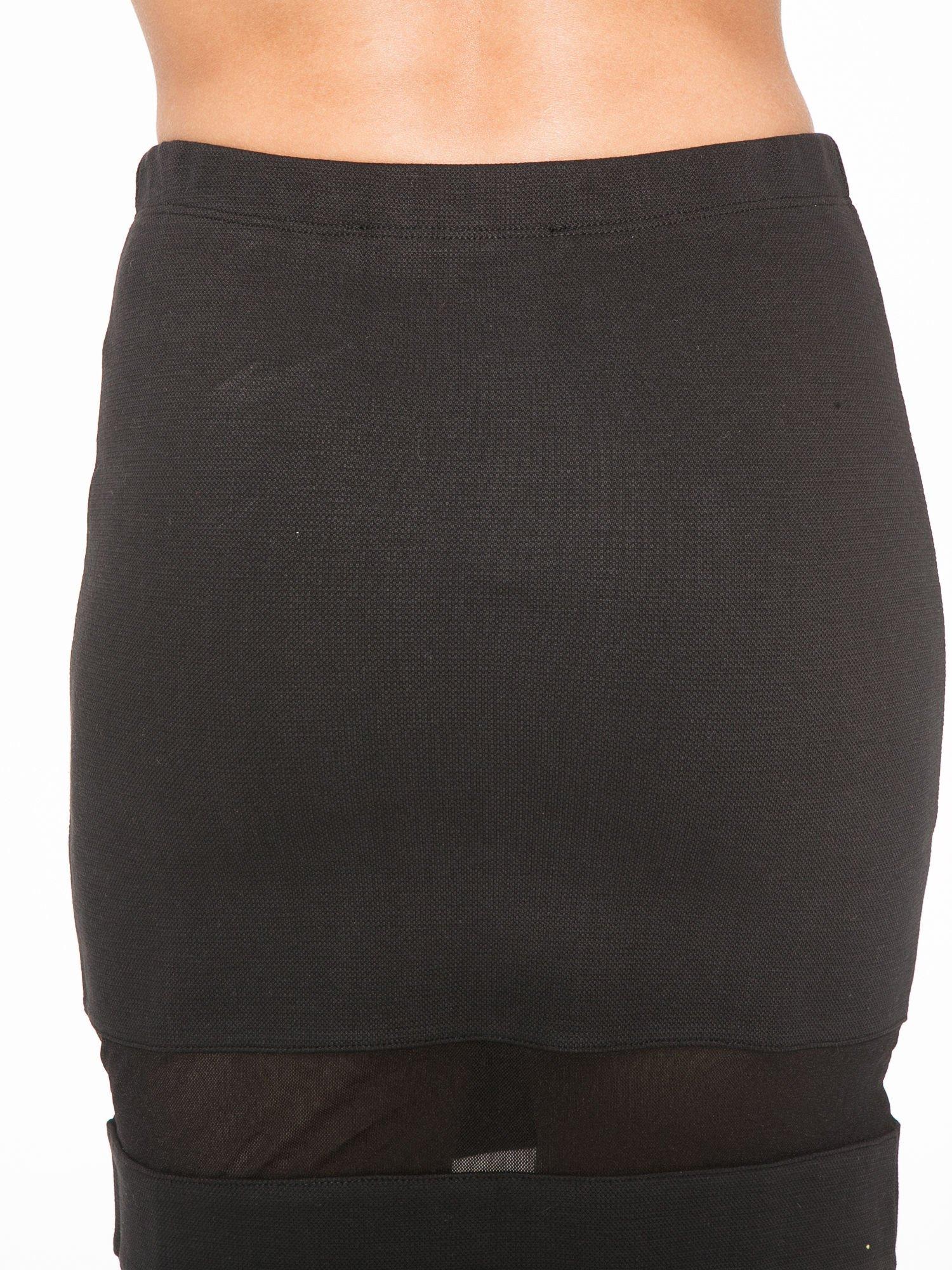 Czarna spódnica tuba z transparentnymi panelami                                  zdj.                                  6