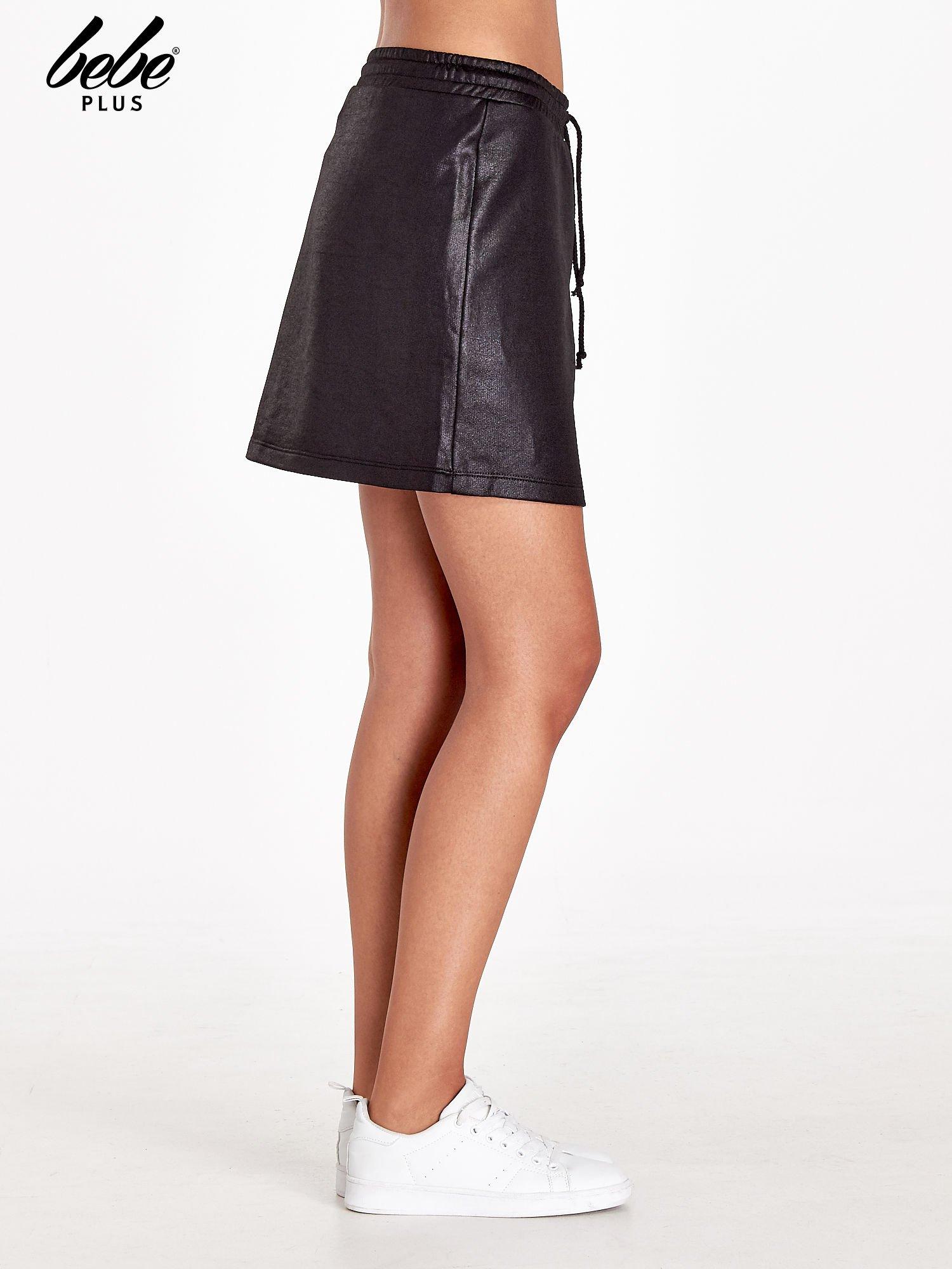 Czarna spódnica w stylu baseballowym                                  zdj.                                  3