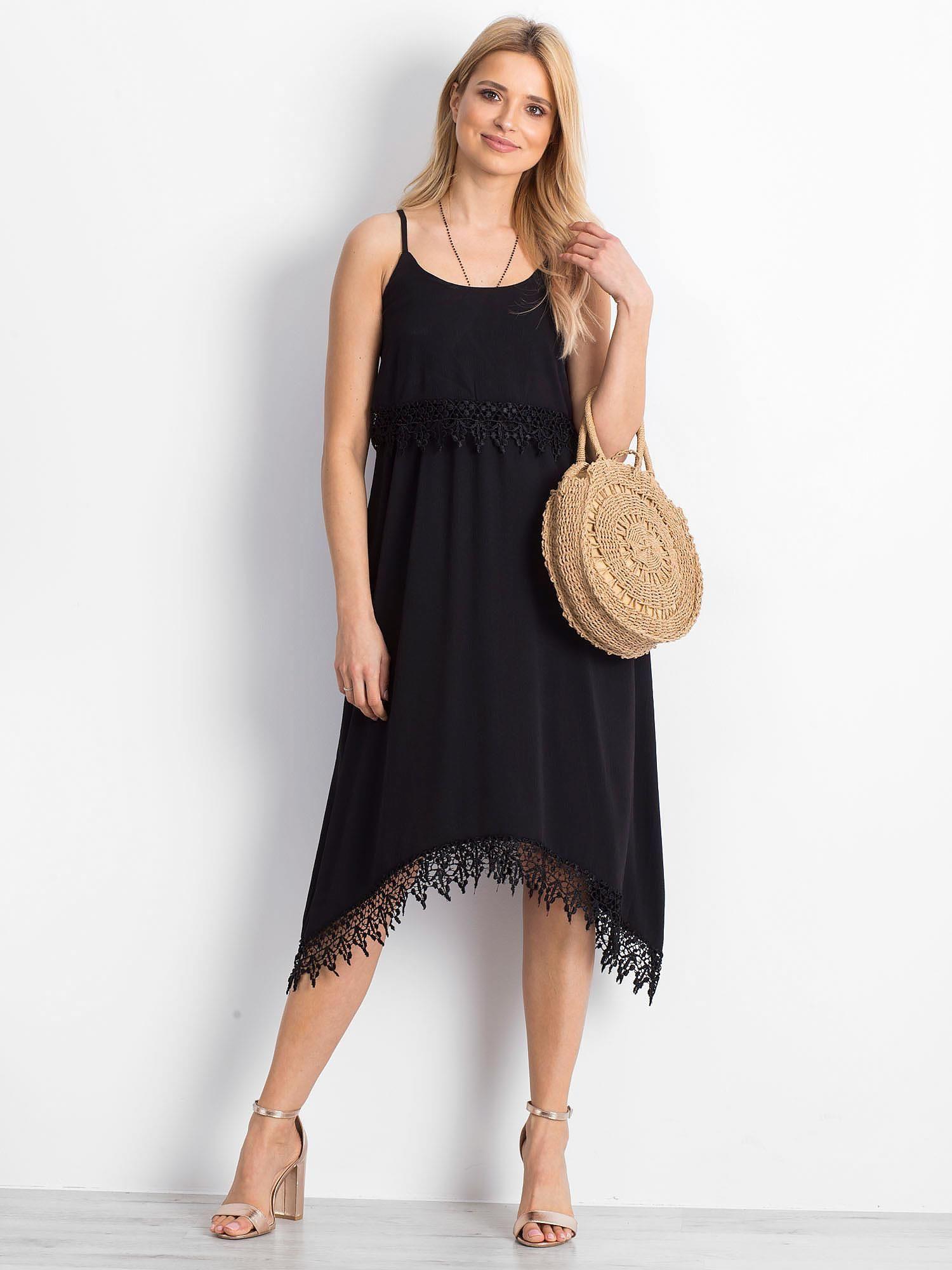 Czarna sukienka Dangerously