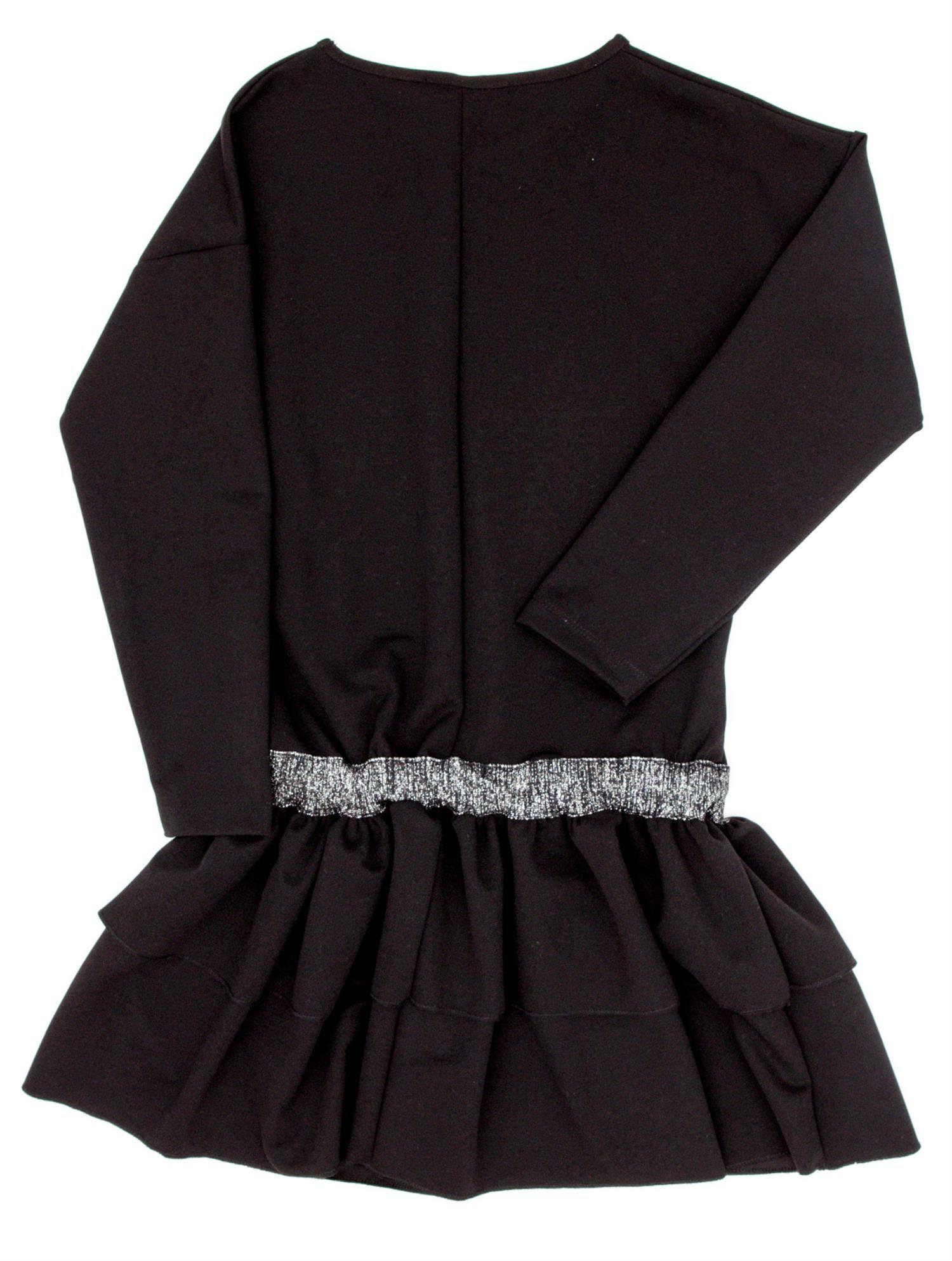 ff2f05ab54 Czarna sukienka dla dziewczynki z falbanami - Dziecko Dziewczynka - sklep  eButik.pl