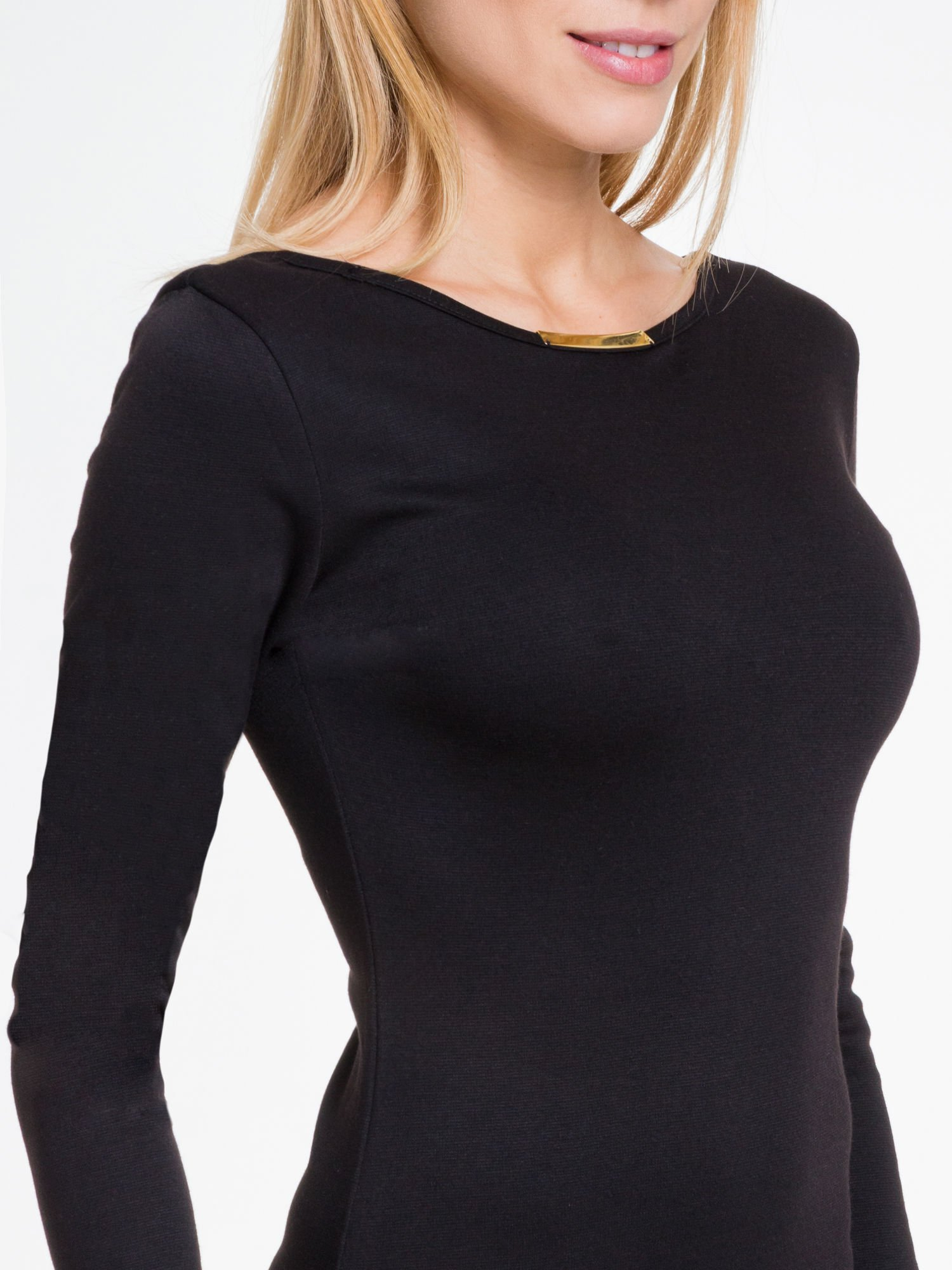 Czarna sukienka maxi  z dekoltem na plecach                                  zdj.                                  6