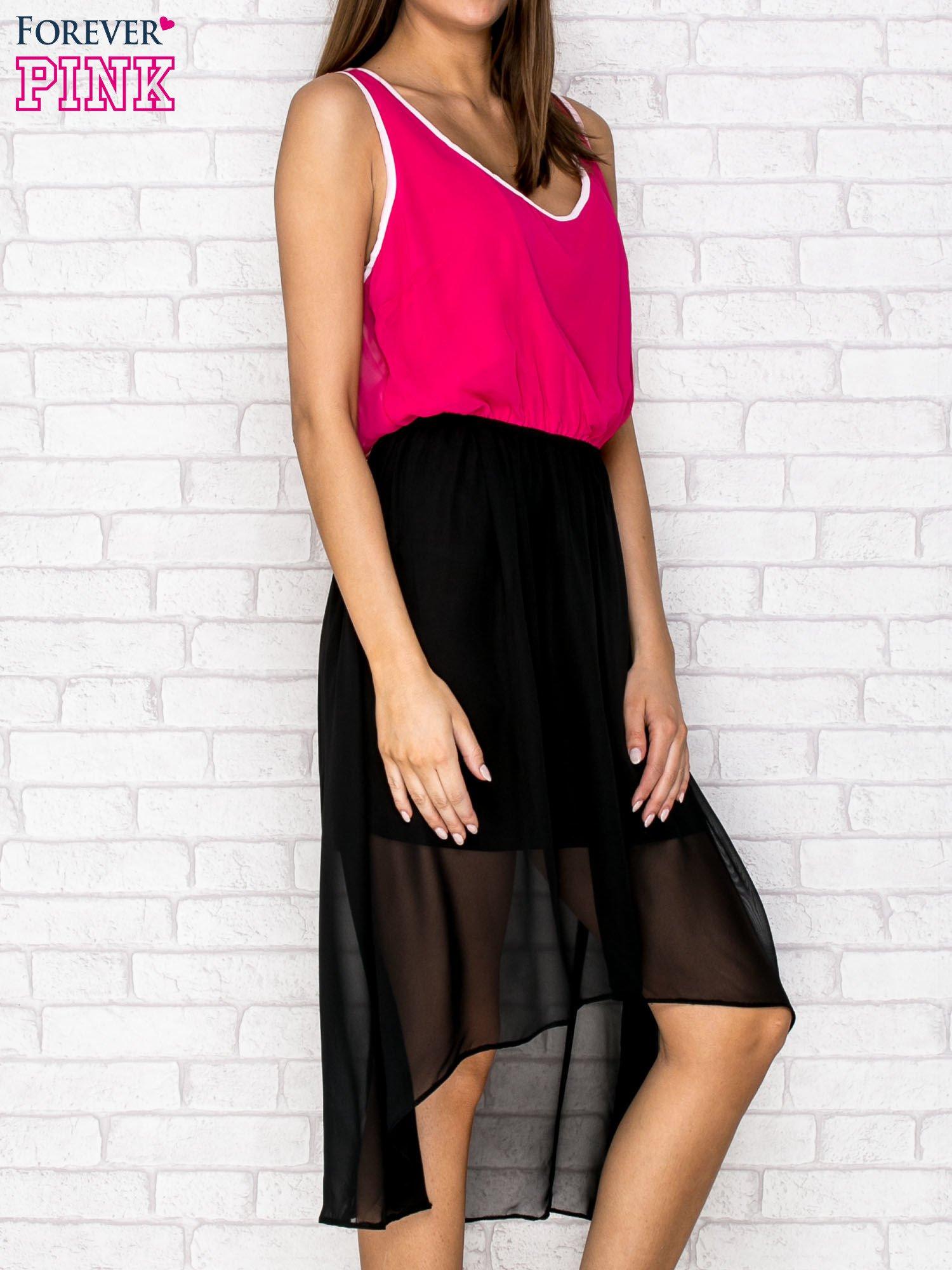 Czarna tiulowa sukienka z krzyżowanymi plecami                                  zdj.                                  3