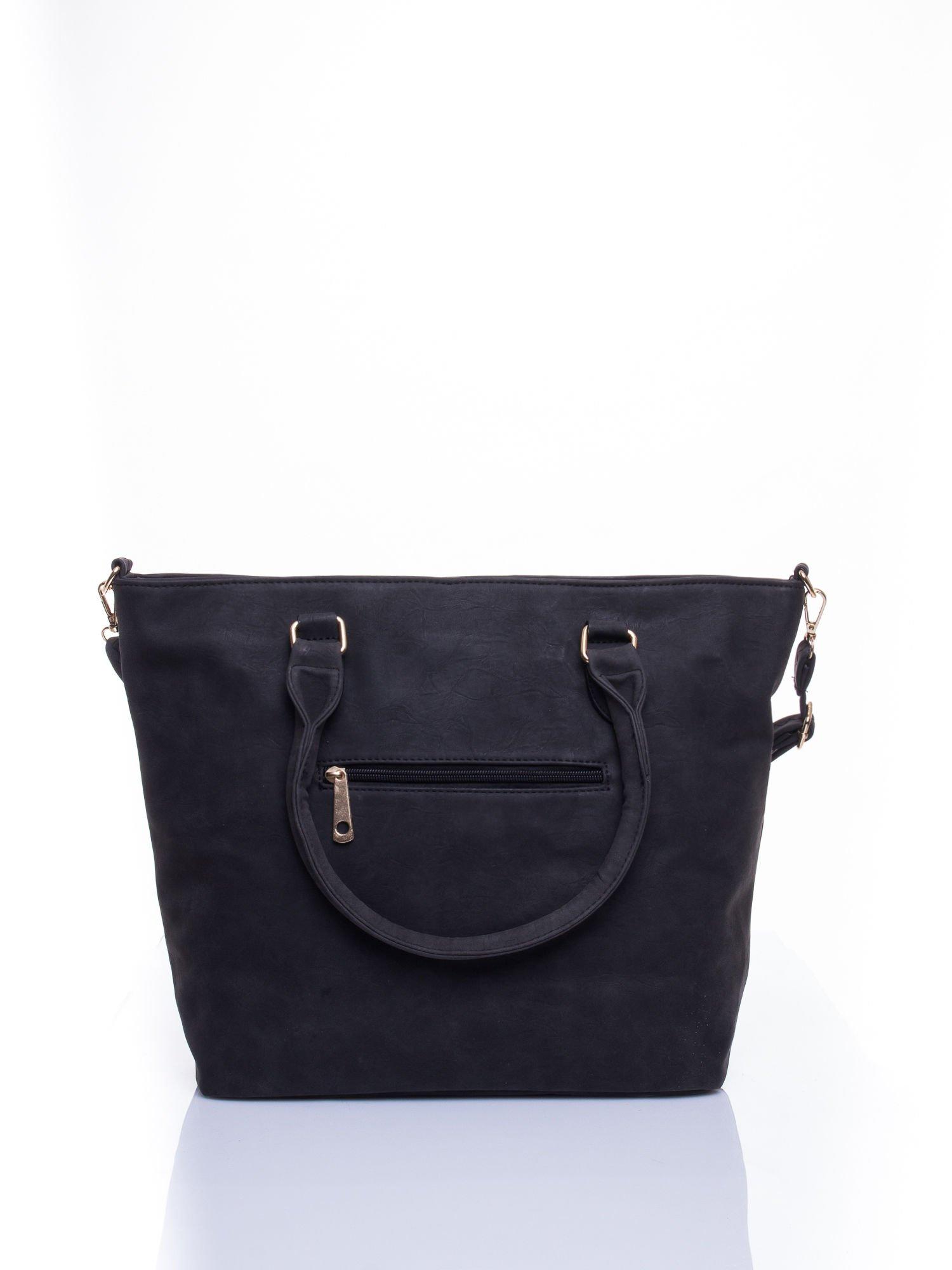 Czarna torba city bag na ramię                                  zdj.                                  2