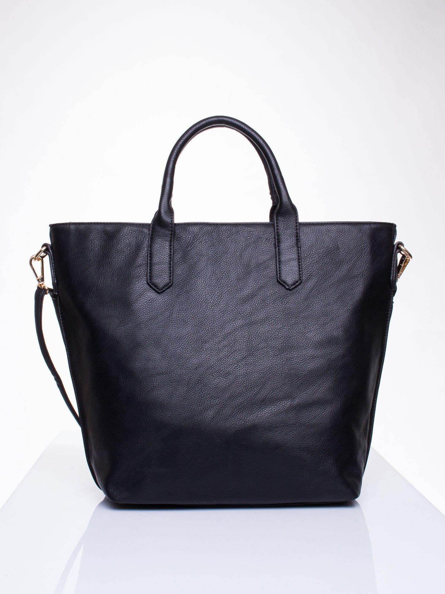 Czarna torba damska do ręki                                  zdj.                                  2