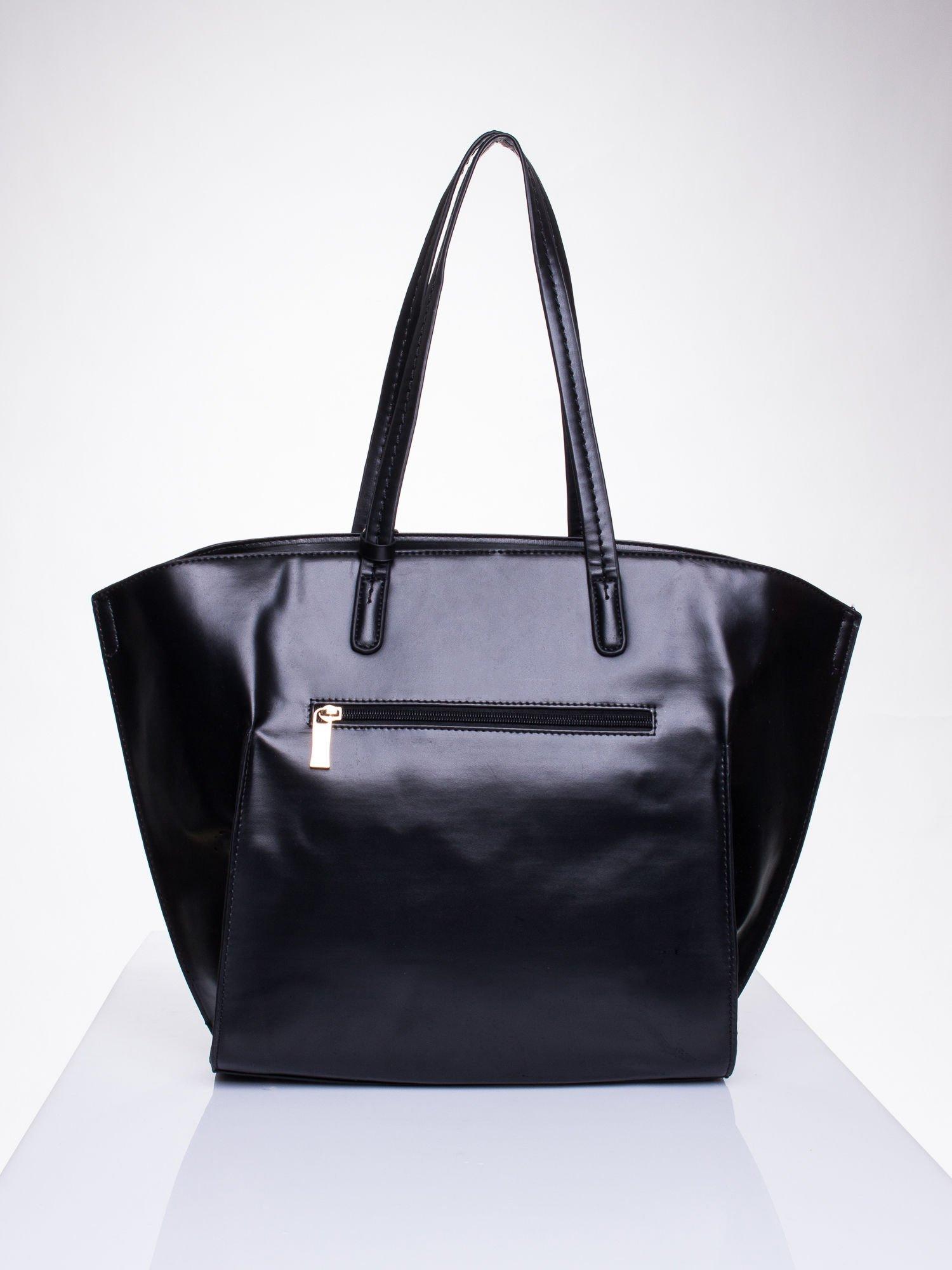Czarna torba z doczepianą saszetką                                  zdj.                                  2