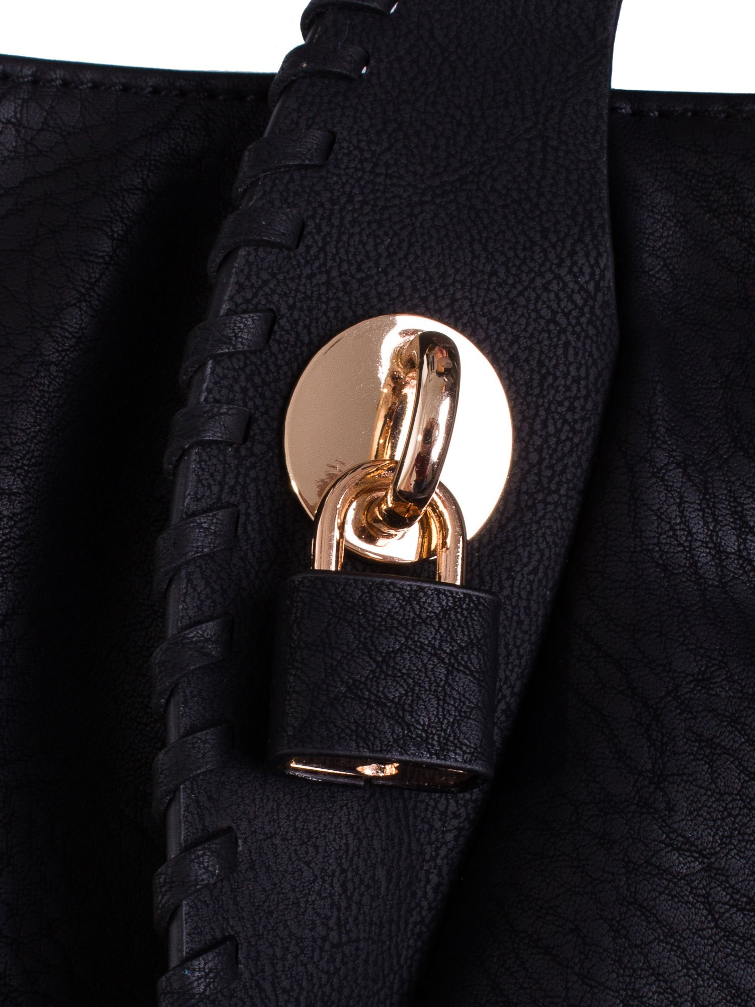 Czarna torba z wywiniętymi rączkami                                  zdj.                                  5