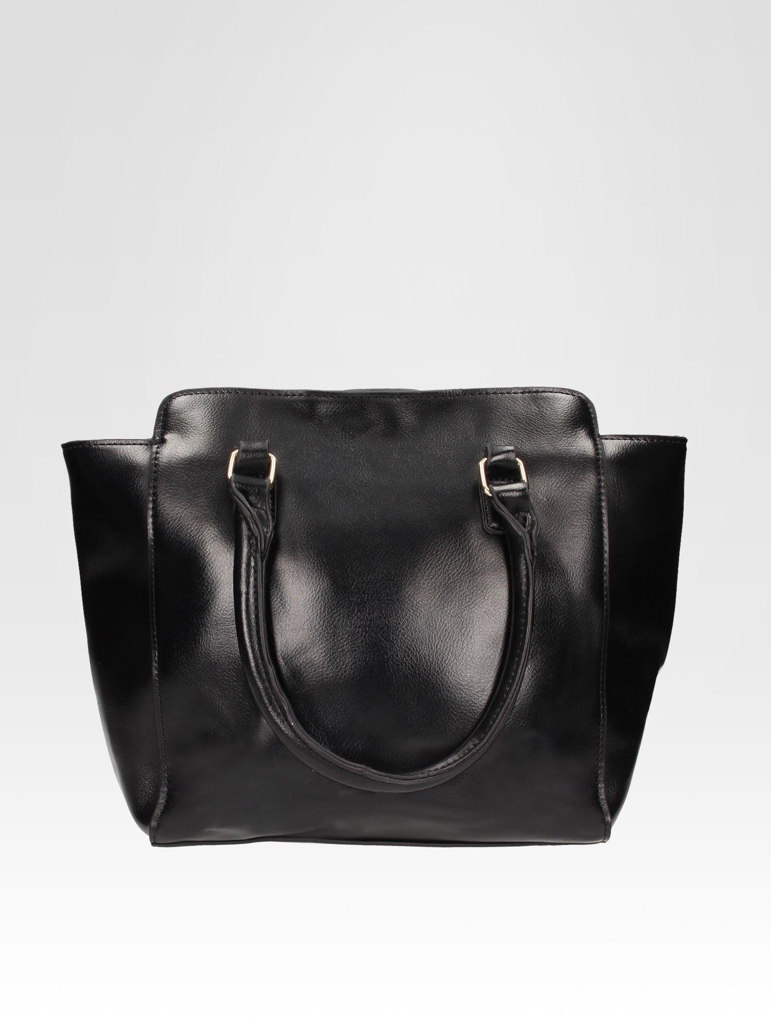 Czarna torebka na ramię z dżetami                                  zdj.                                  3