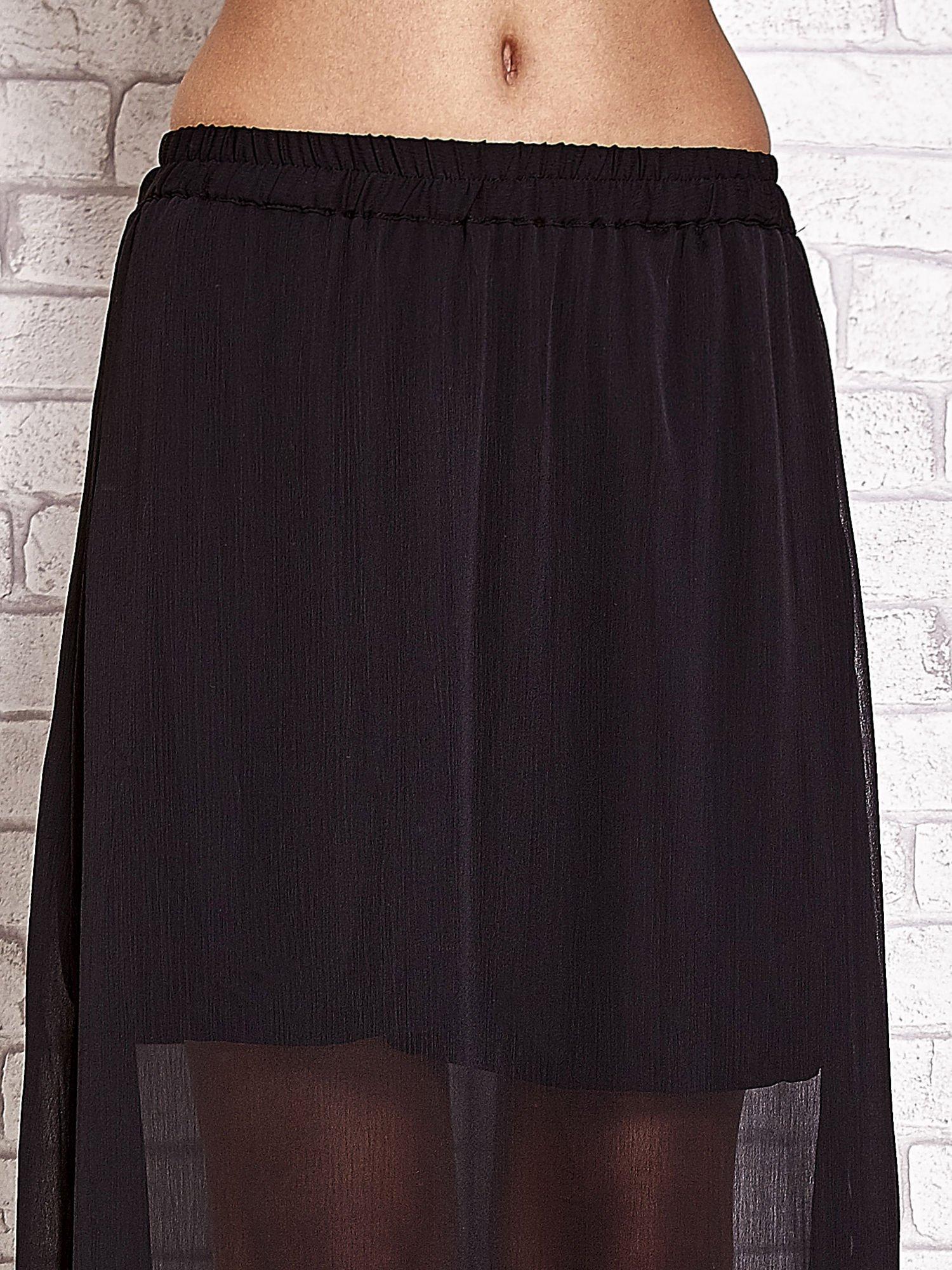 Czarna transparentna spódnica maxi                                  zdj.                                  5