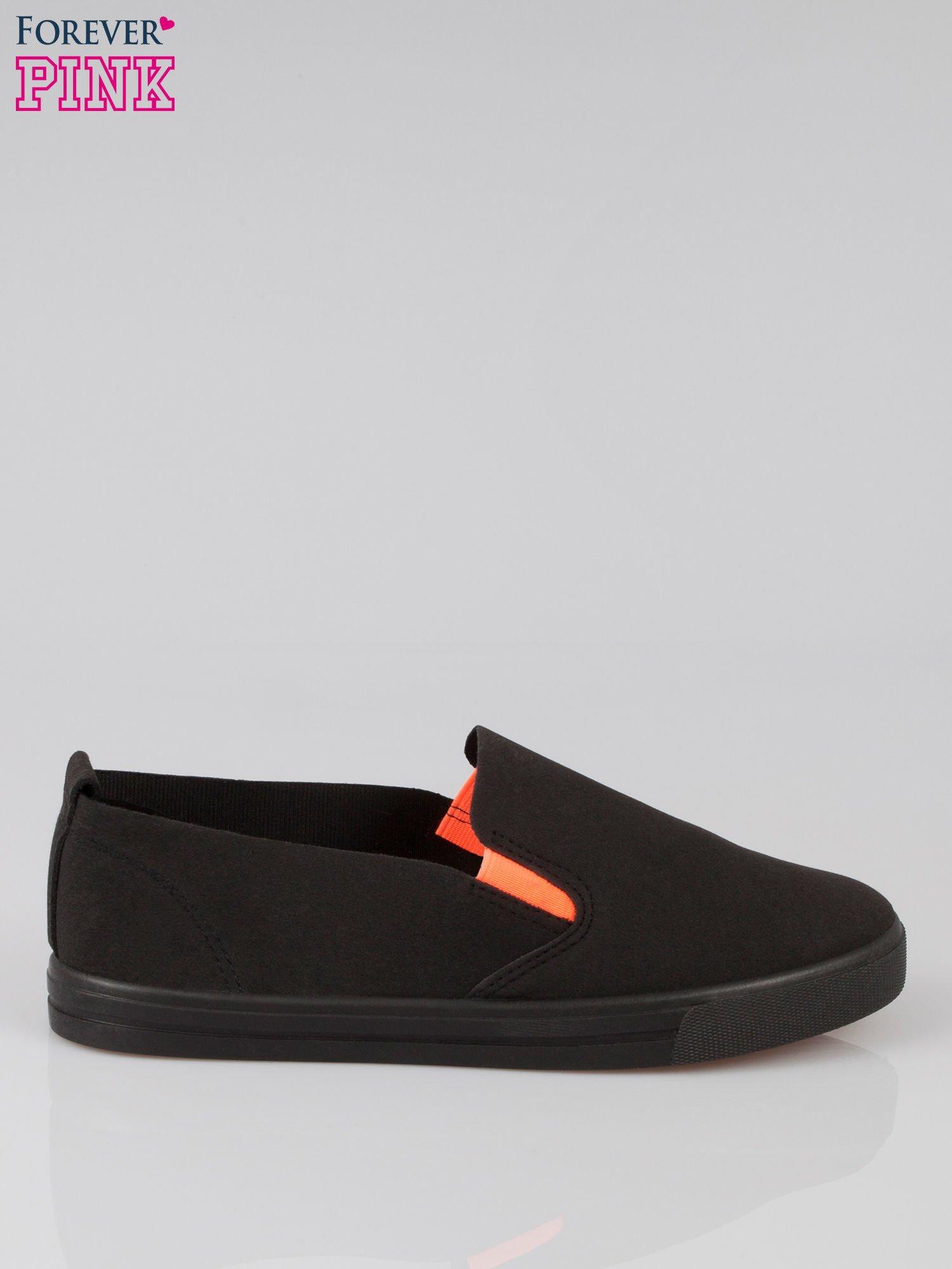 Czarne buty slip on                                  zdj.                                  1