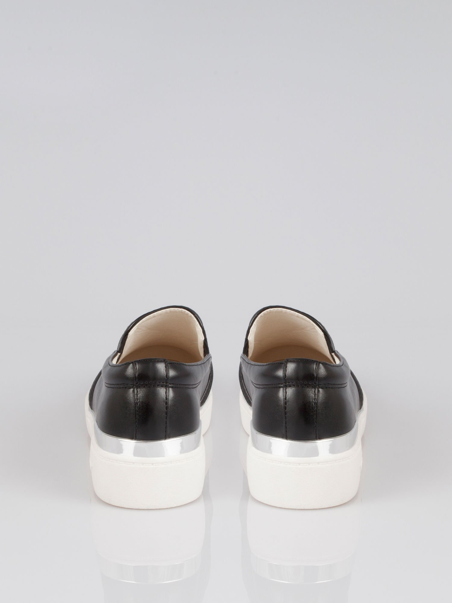 Czarne buty sliponki glitter                                  zdj.                                  2