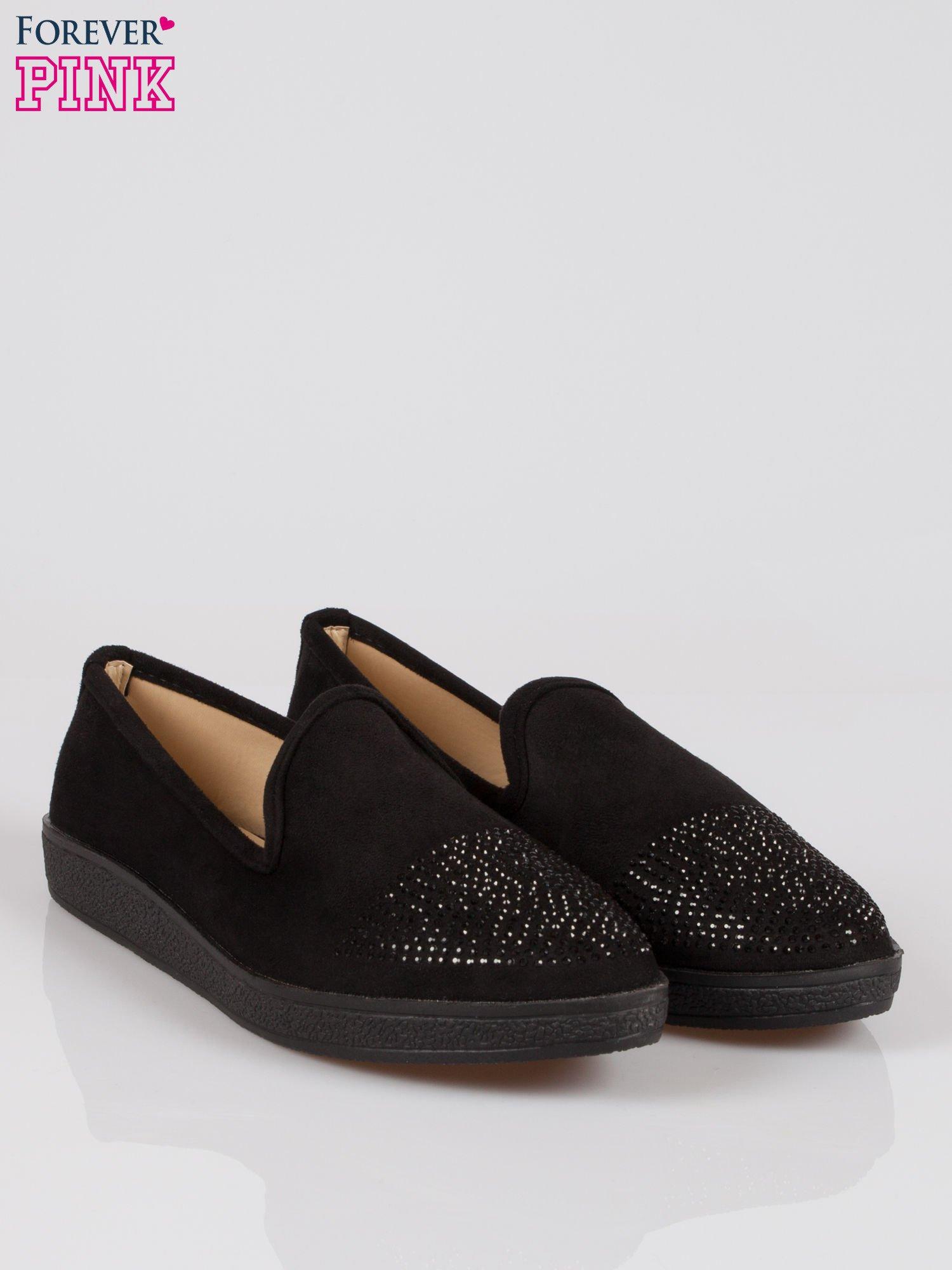 Czarne buty slippers z dżetami                                  zdj.                                  2