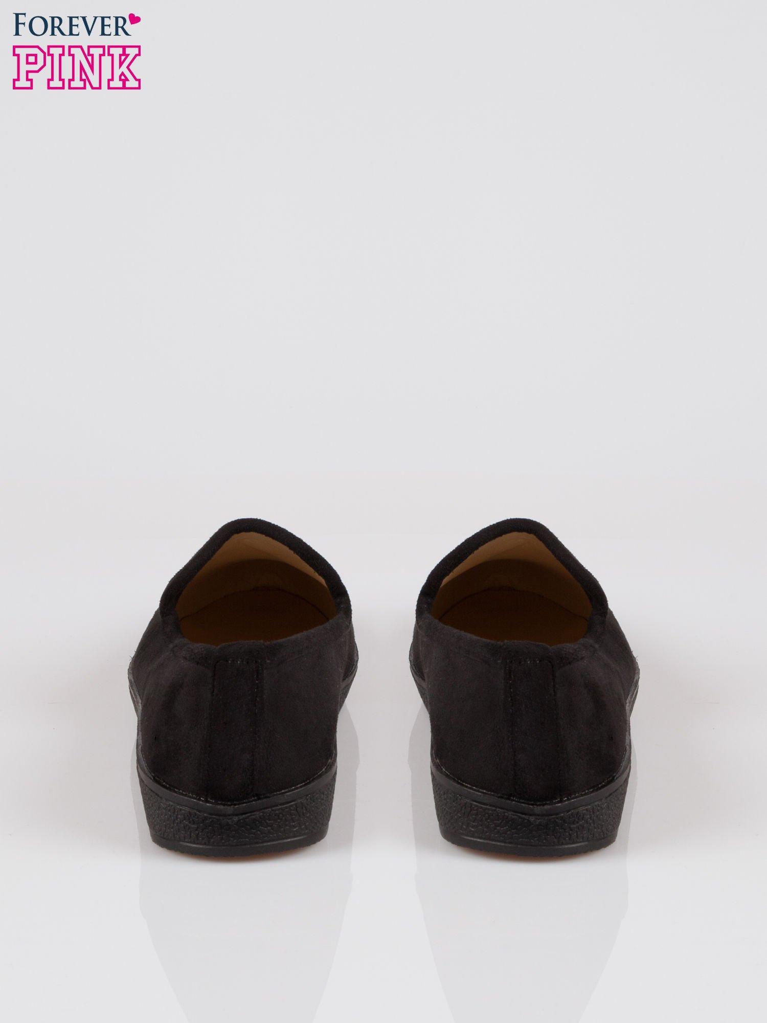 Czarne buty slippers z dżetami                                  zdj.                                  3